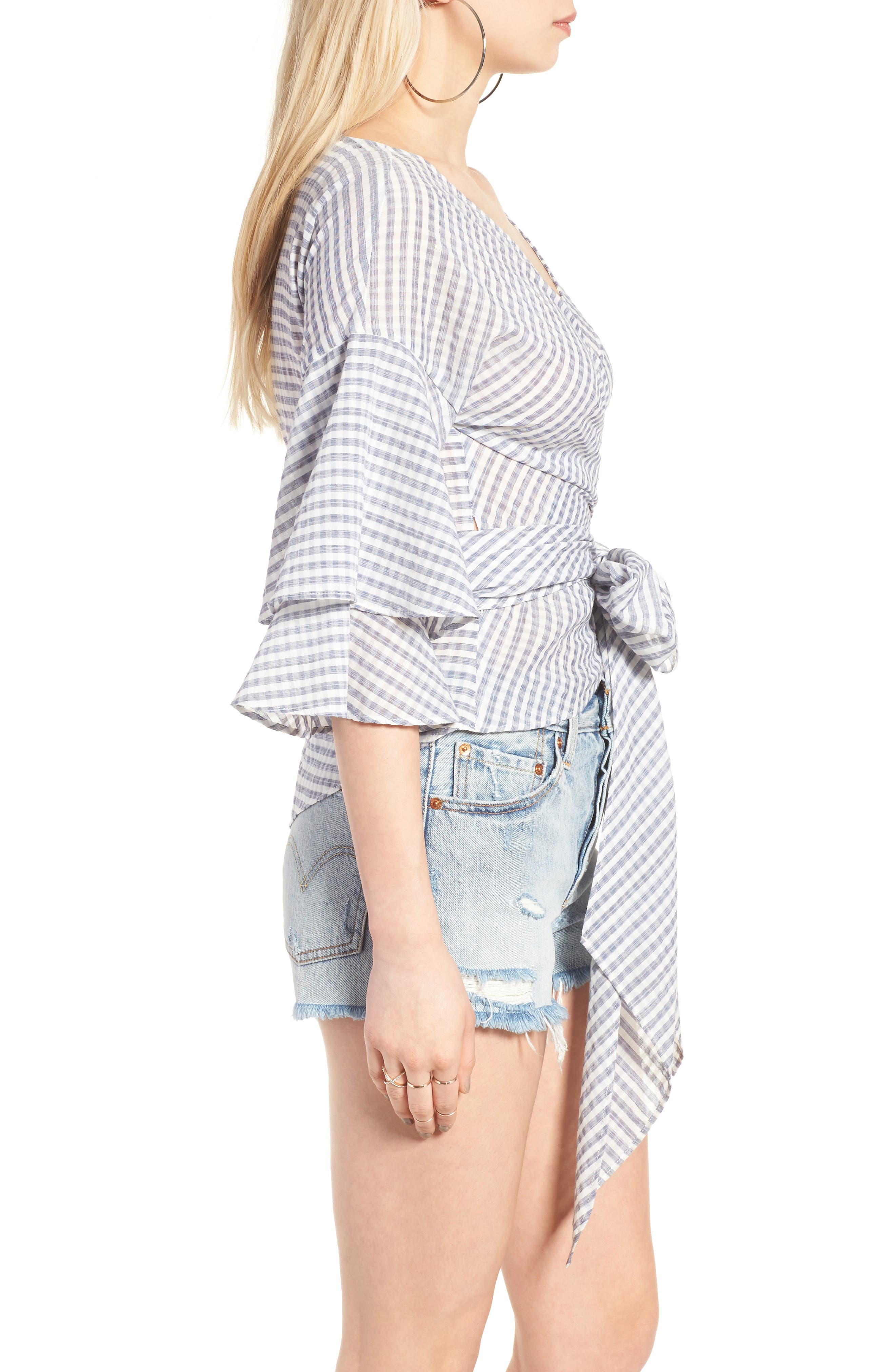 Beckett Tiered Bell Sleeve Top,                             Alternate thumbnail 21, color,