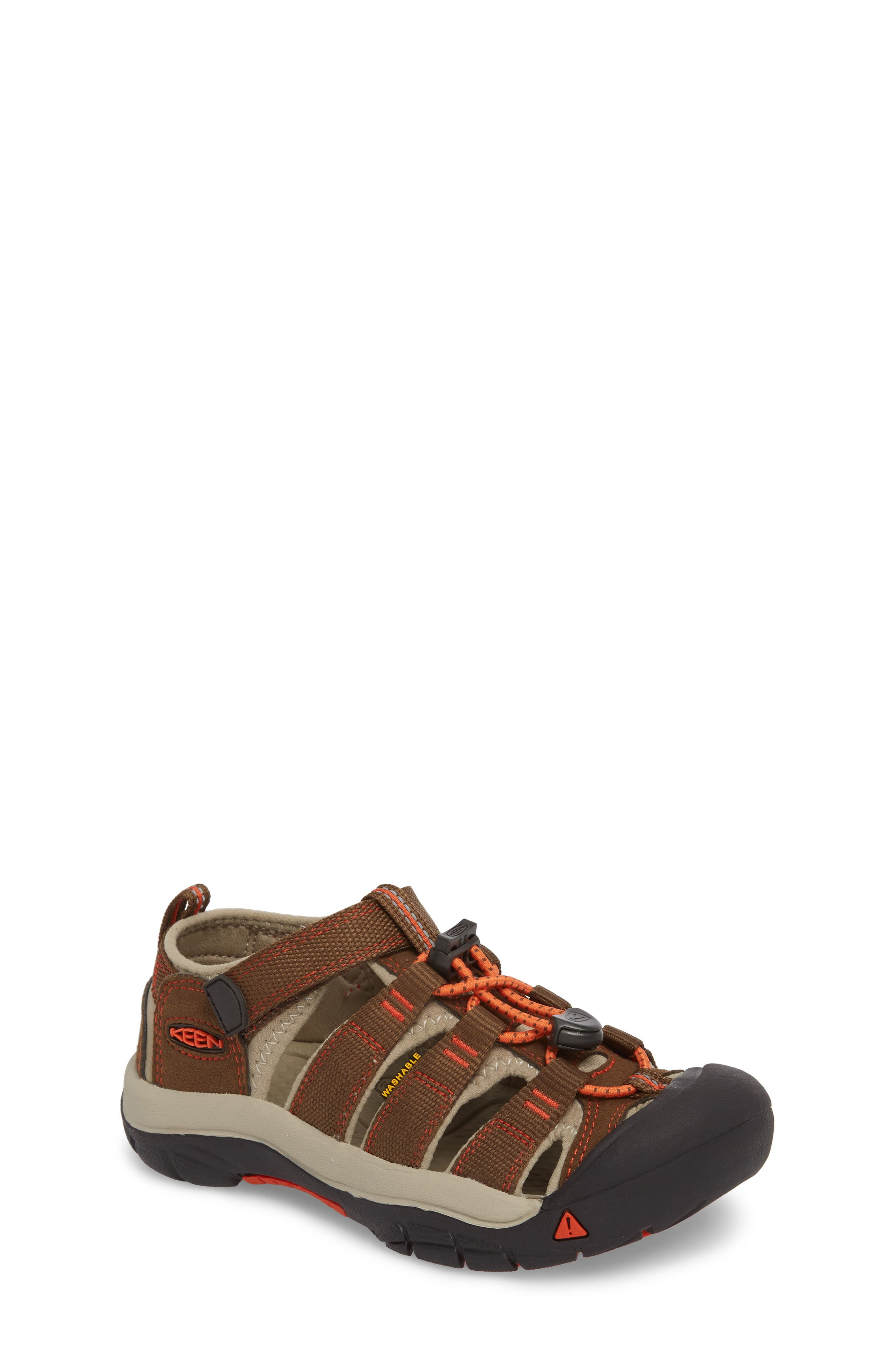 'Newport H2' Water Friendly Sandal,                             Main thumbnail 1, color,                             DARK EARTH/ SPICY ORANGE