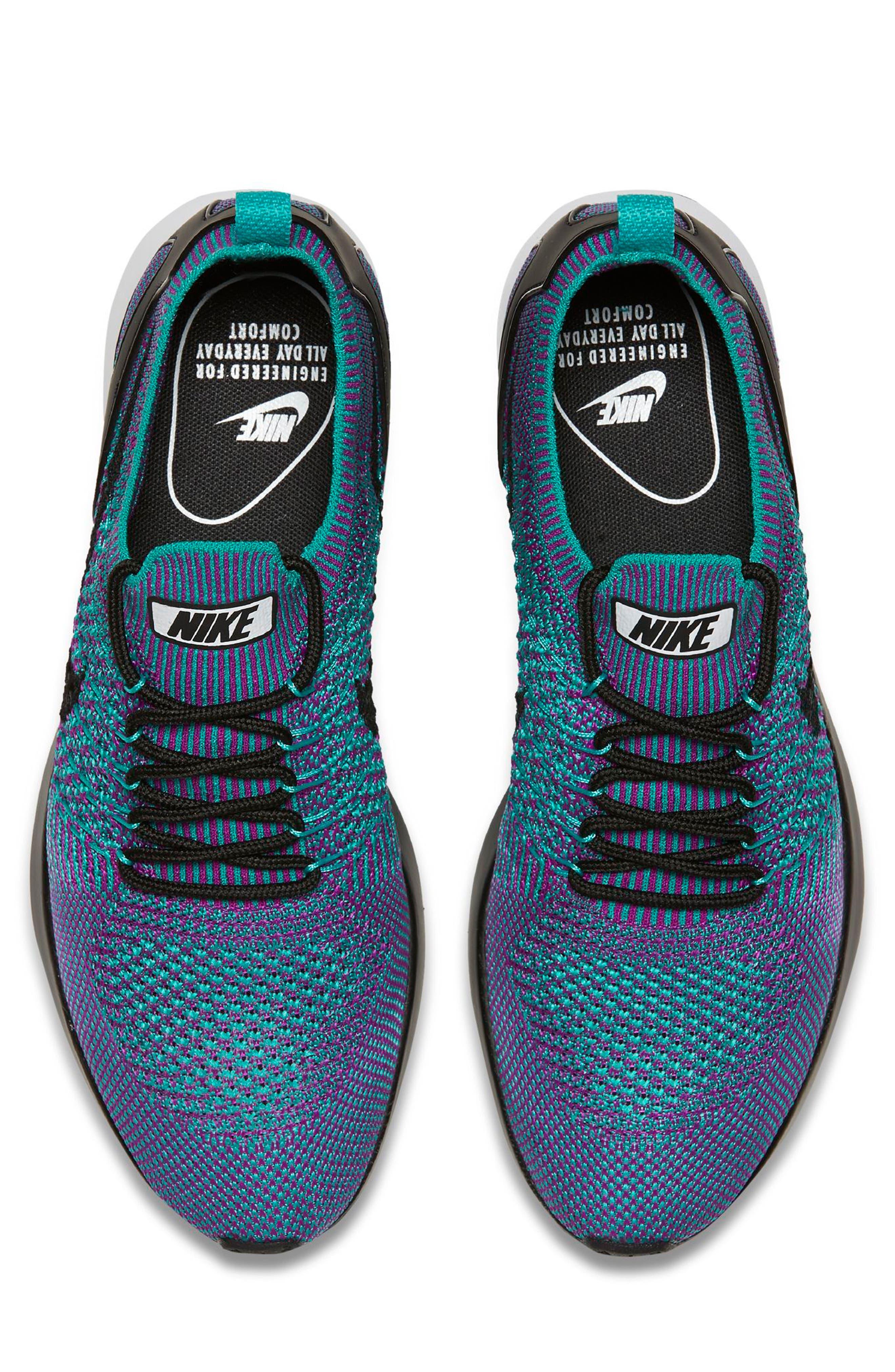 Air Zoom Mariah Flyknit Racer Sneaker,                             Alternate thumbnail 4, color,                             CLEAR JADE/ BLACK