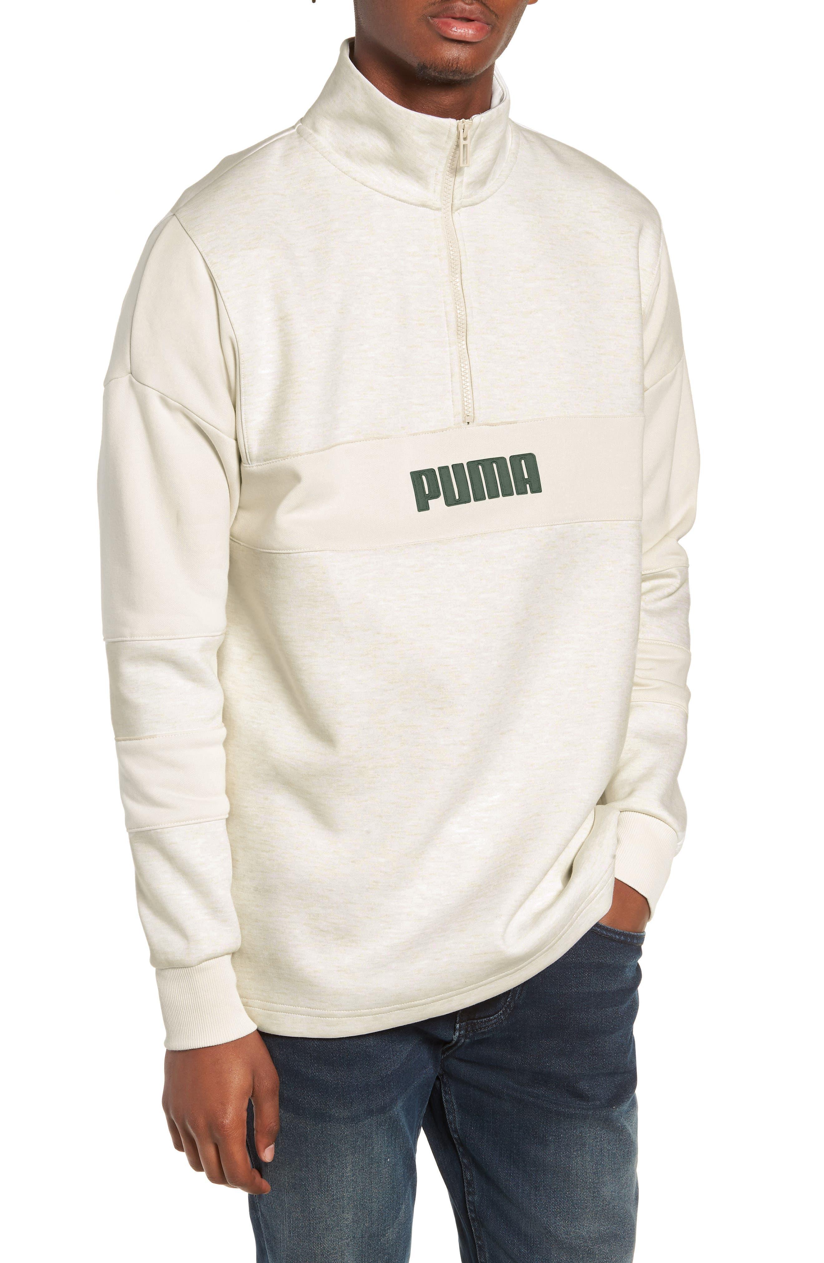 x Big Sean Half Zip Jacket,                         Main,                         color, BIRCH