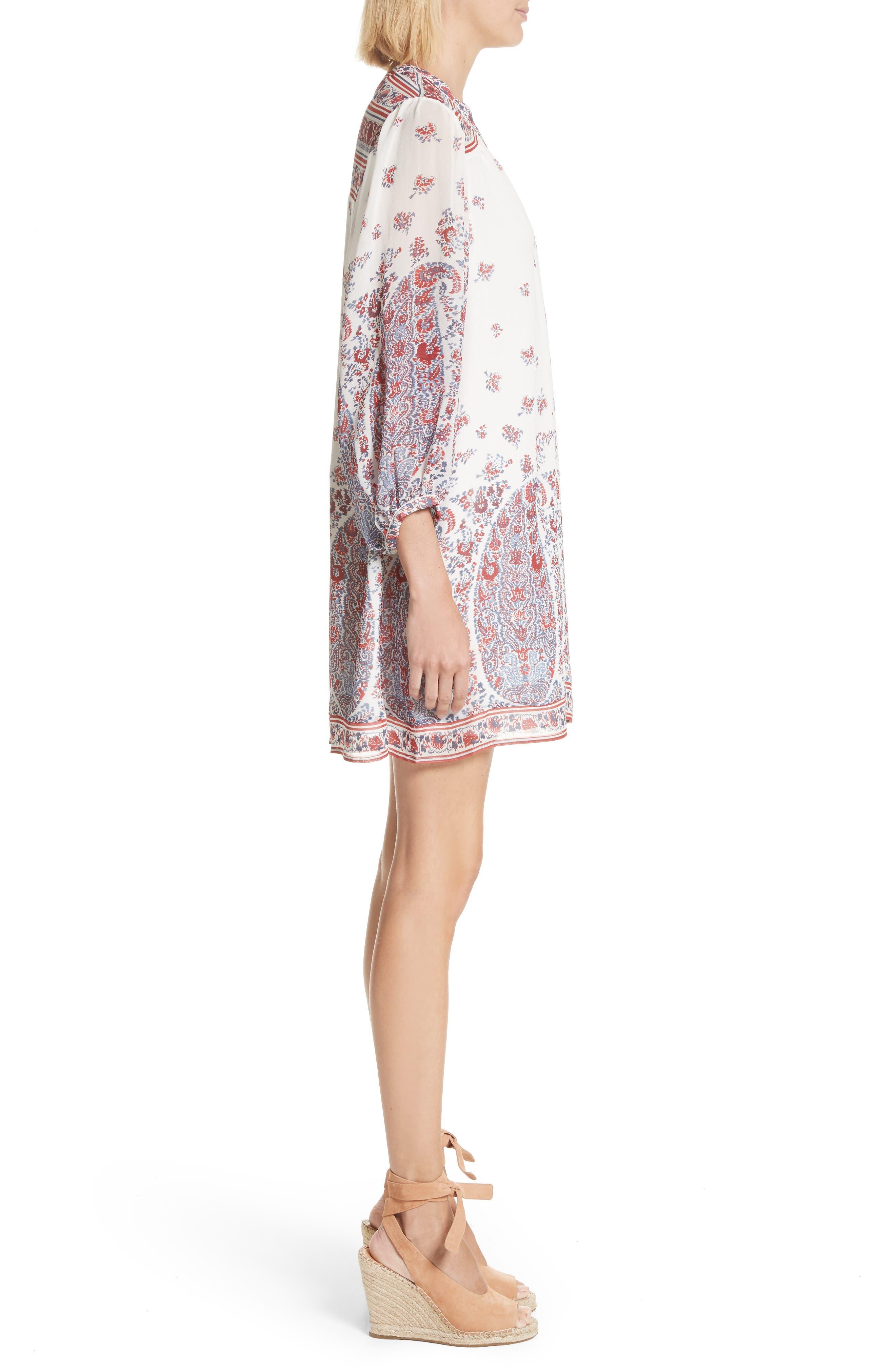 Ofelie Silk Shirtdress,                             Alternate thumbnail 3, color,                             641