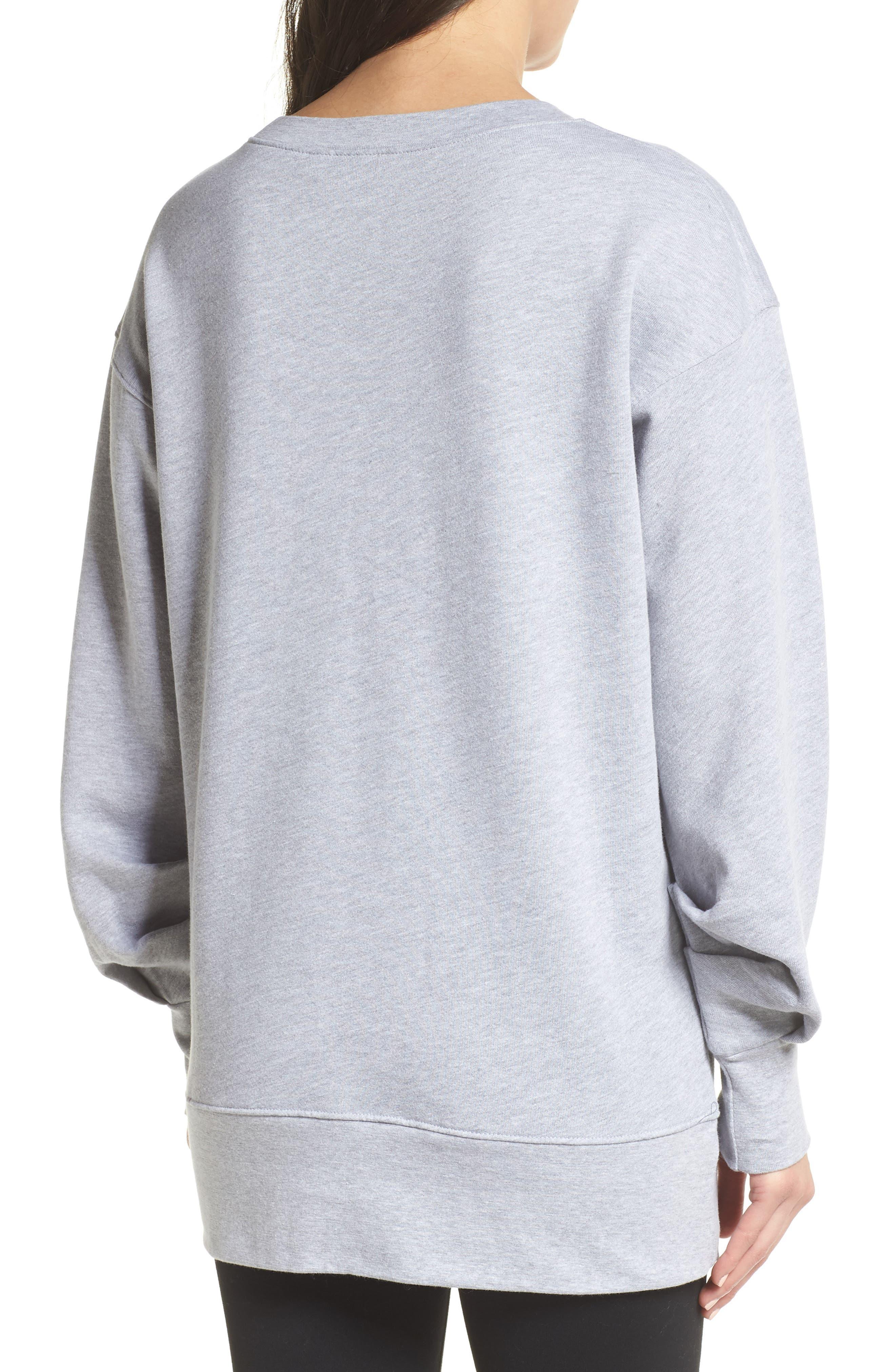Boxy Oversize Sweatshirt,                             Alternate thumbnail 7, color,