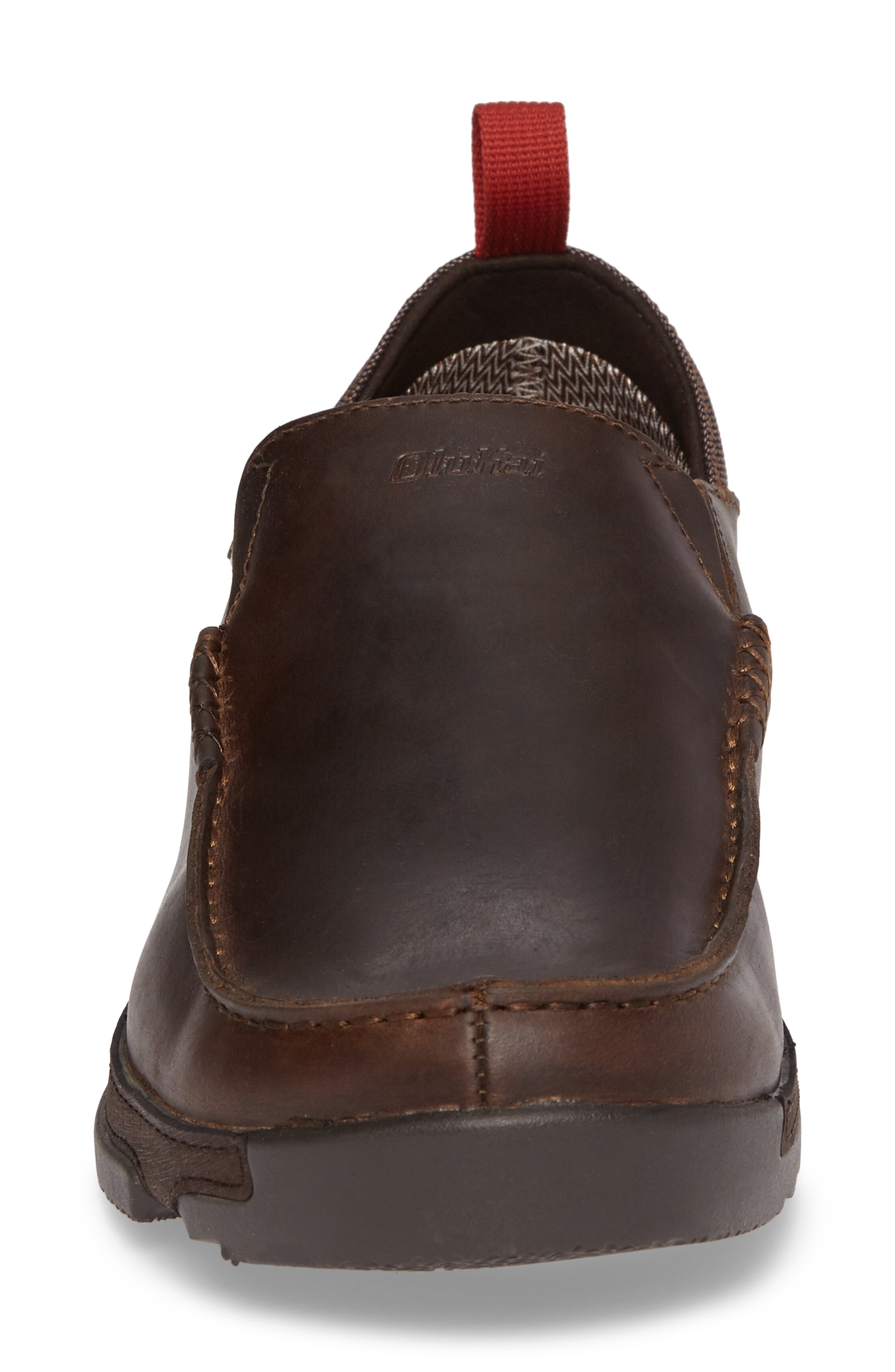 Na'I Collapsible Waterproof Slip-On,                             Alternate thumbnail 4, color,                             CAROB/ DARK WOOD LEATHER