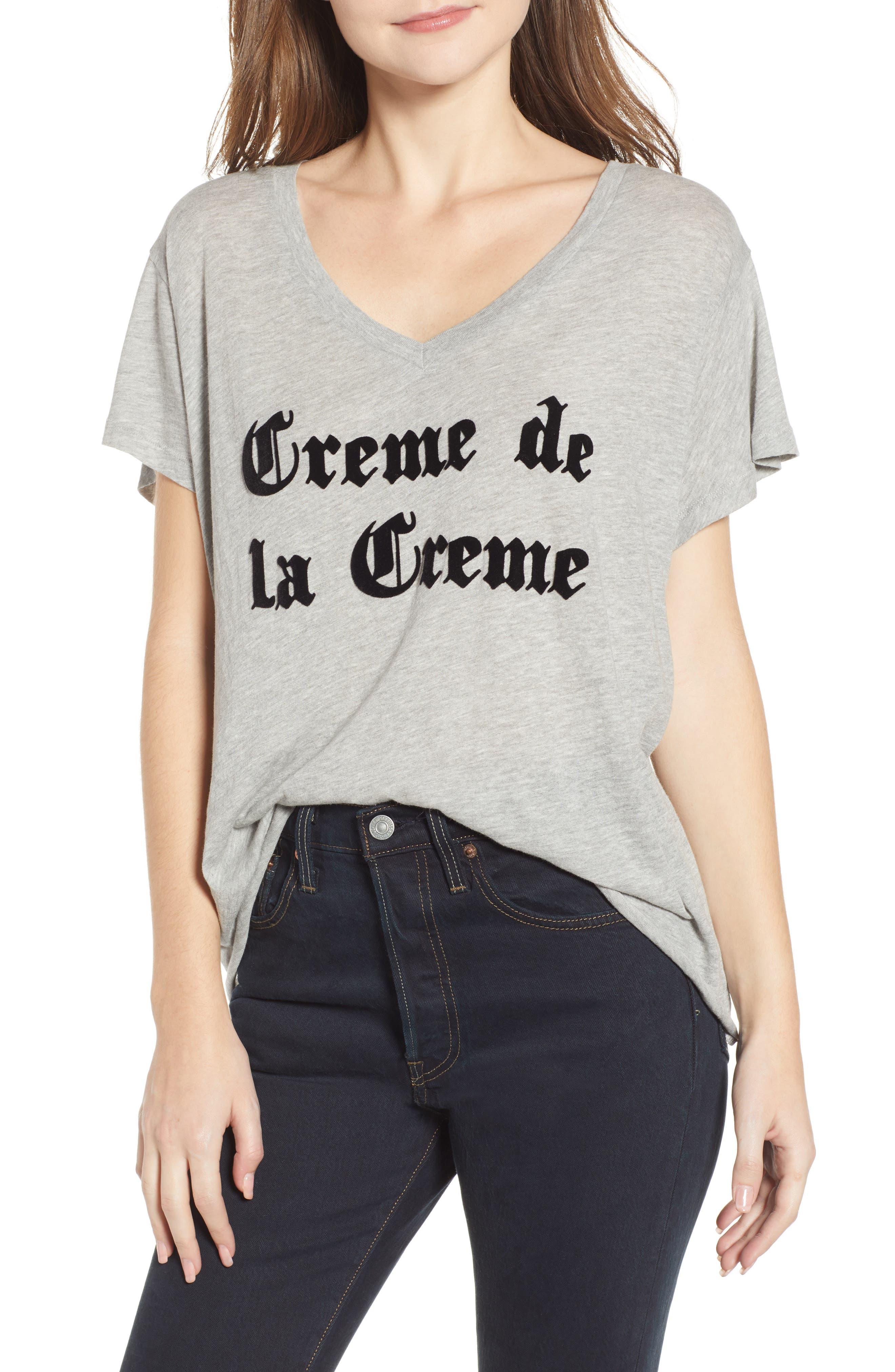 Creme de la Creme Romeo Tee,                             Main thumbnail 1, color,                             HEATHER JERSEY