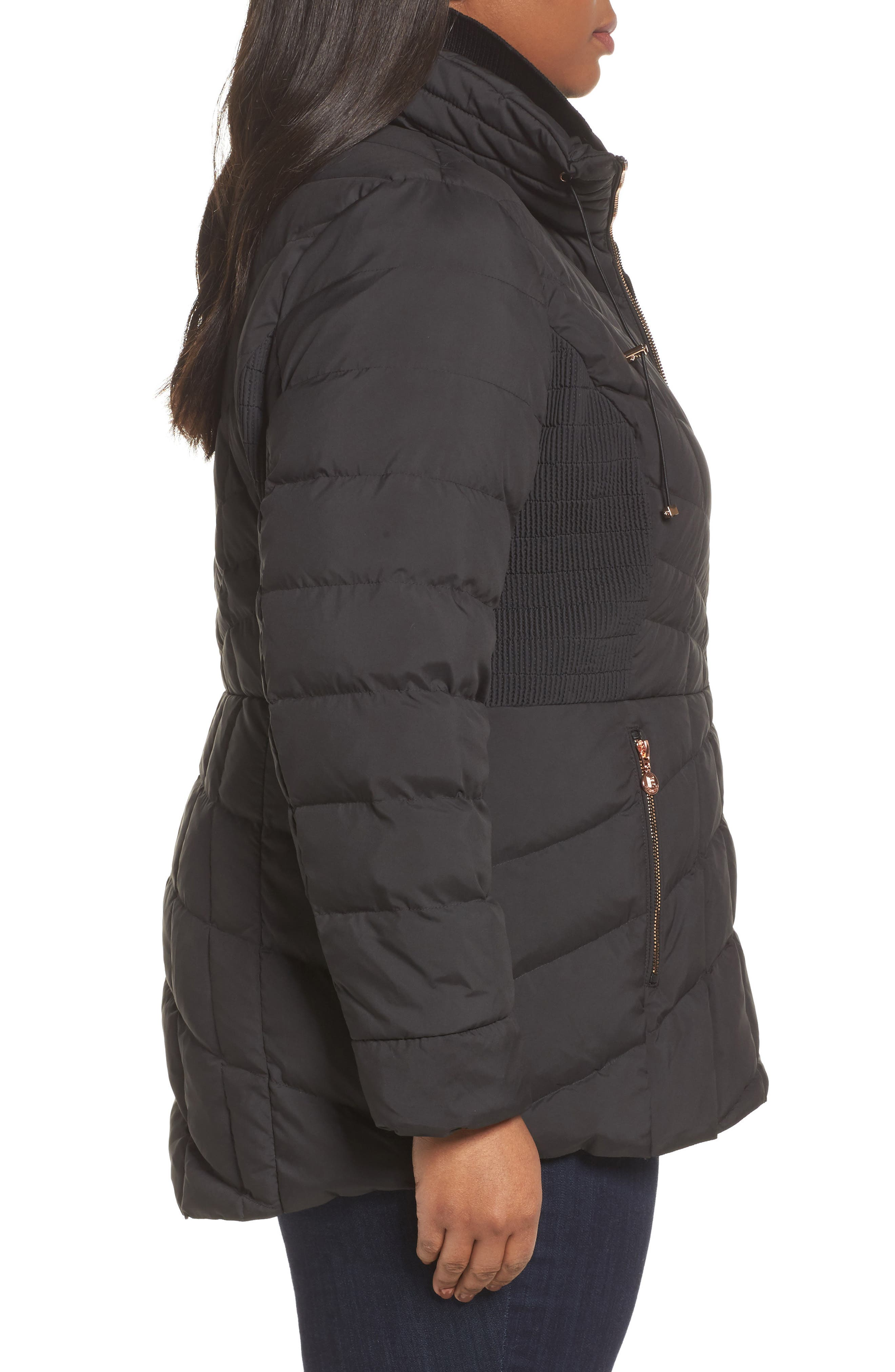 Packable Water Resistant Down & PrimaLoft<sup>®</sup> Coat,                             Alternate thumbnail 5, color,