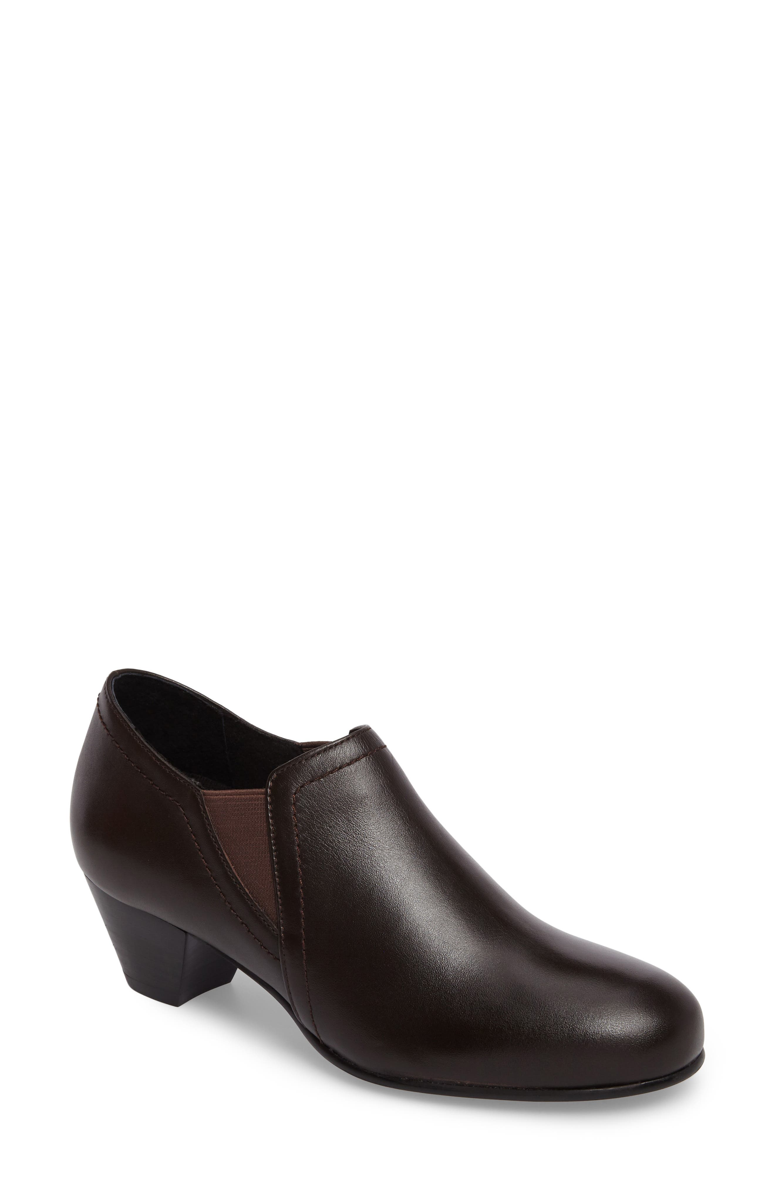 Maple Bootie,                             Main thumbnail 1, color,                             BROWN LEATHER