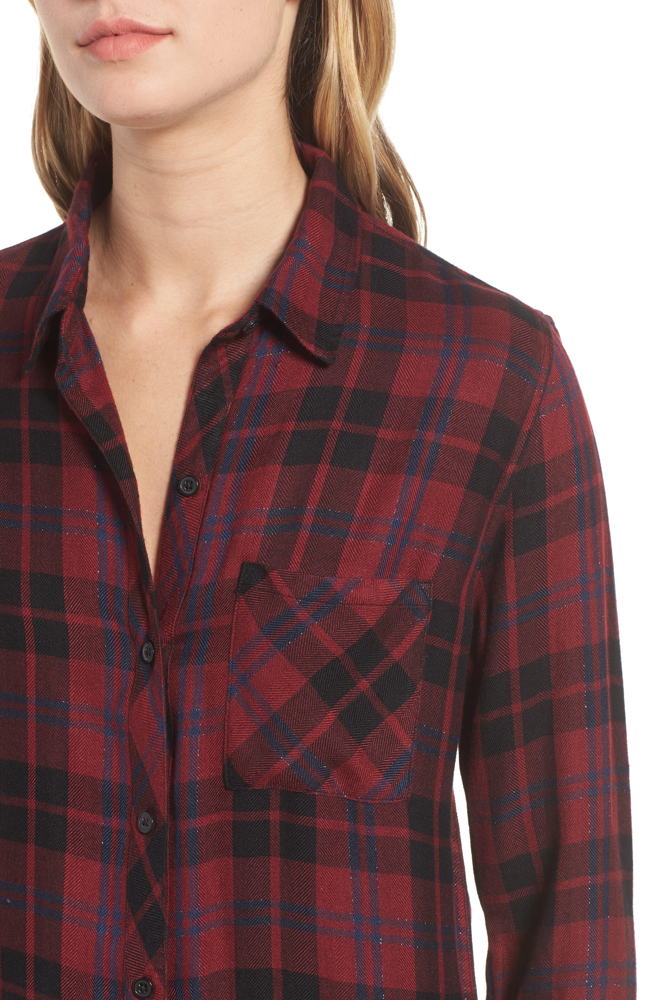 Hunter Plaid Shirt,                             Alternate thumbnail 423, color,
