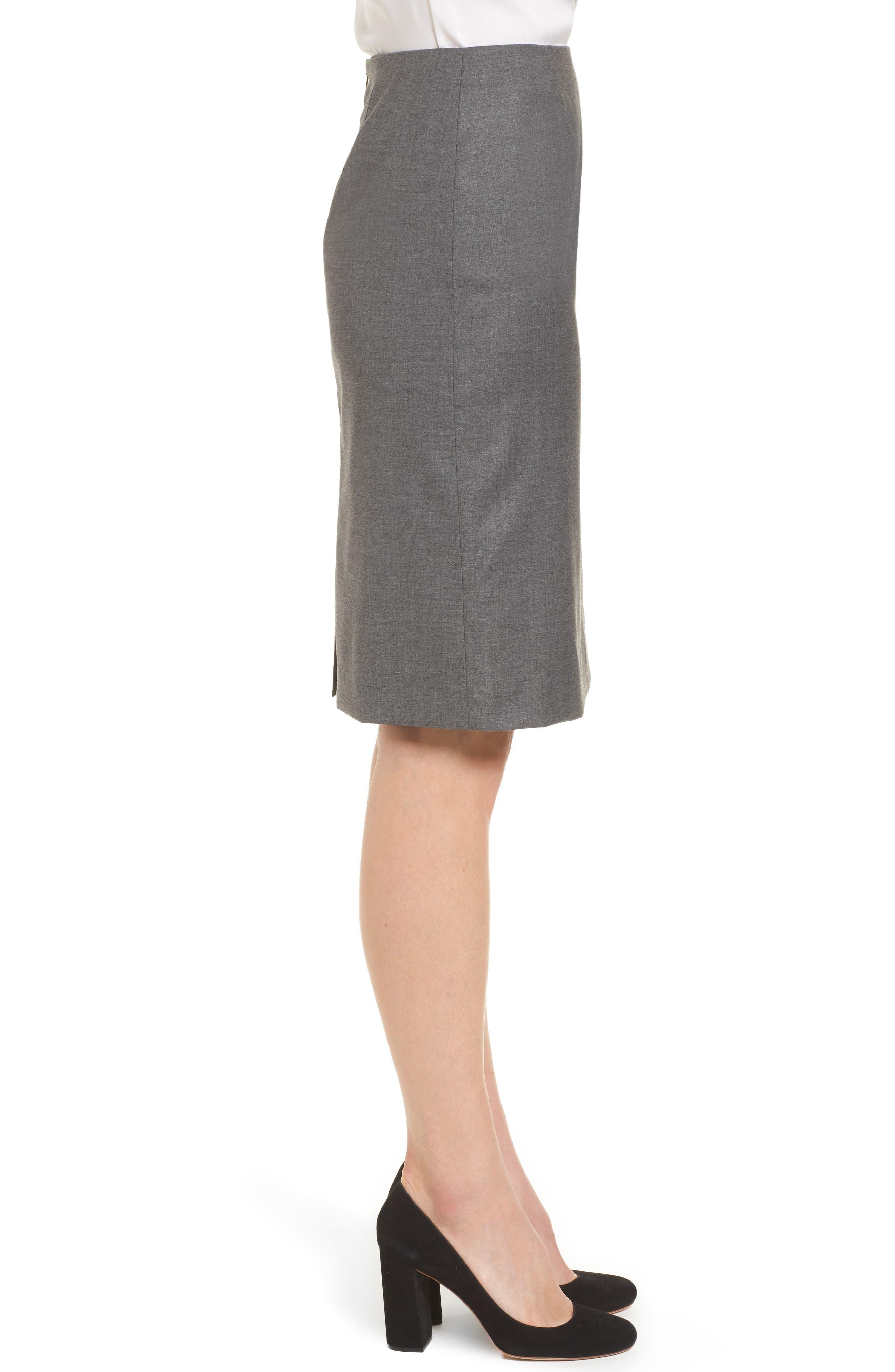 Vileana Wool Blend Suit Skirt,                             Alternate thumbnail 3, color,                             020
