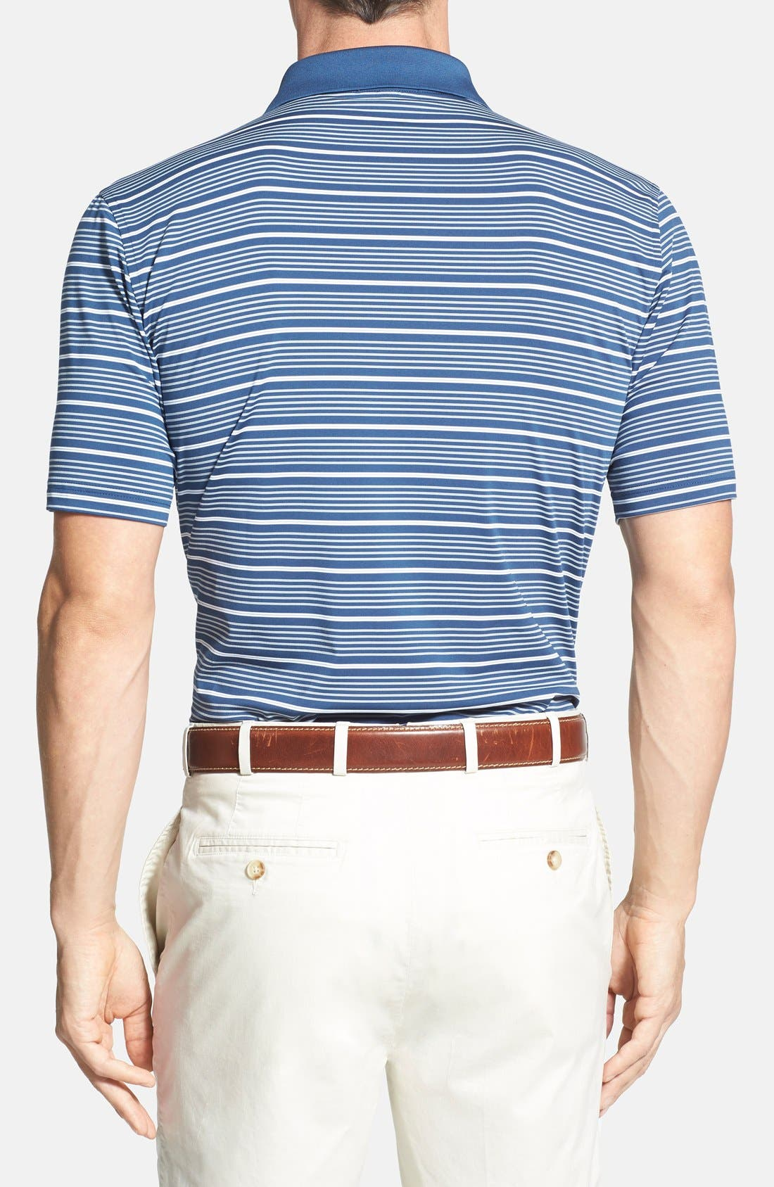 'Staley' Moisture Wicking Polo,                             Alternate thumbnail 3, color,                             402