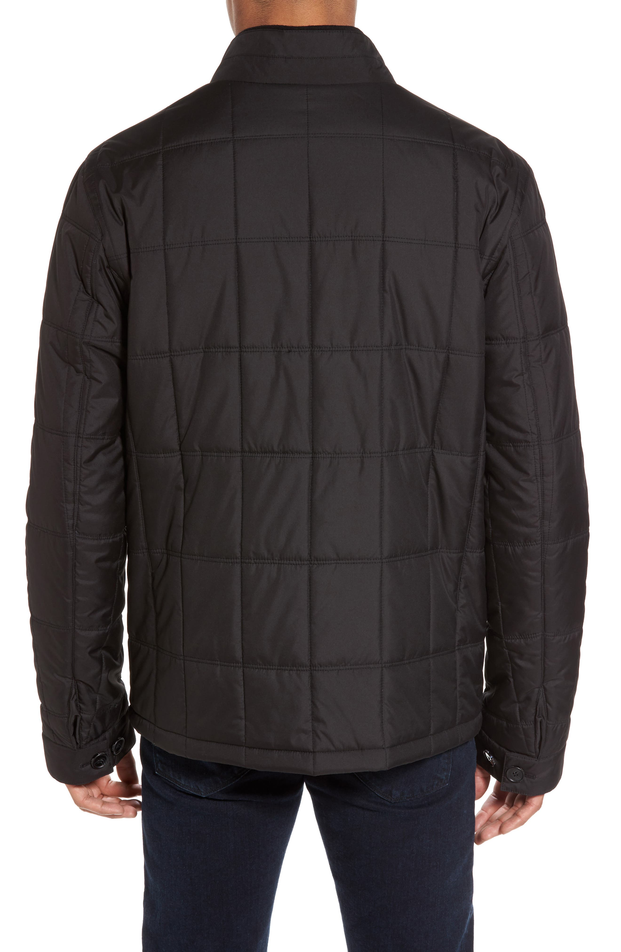 Regular Fit Quilted Jacket,                             Alternate thumbnail 2, color,                             001