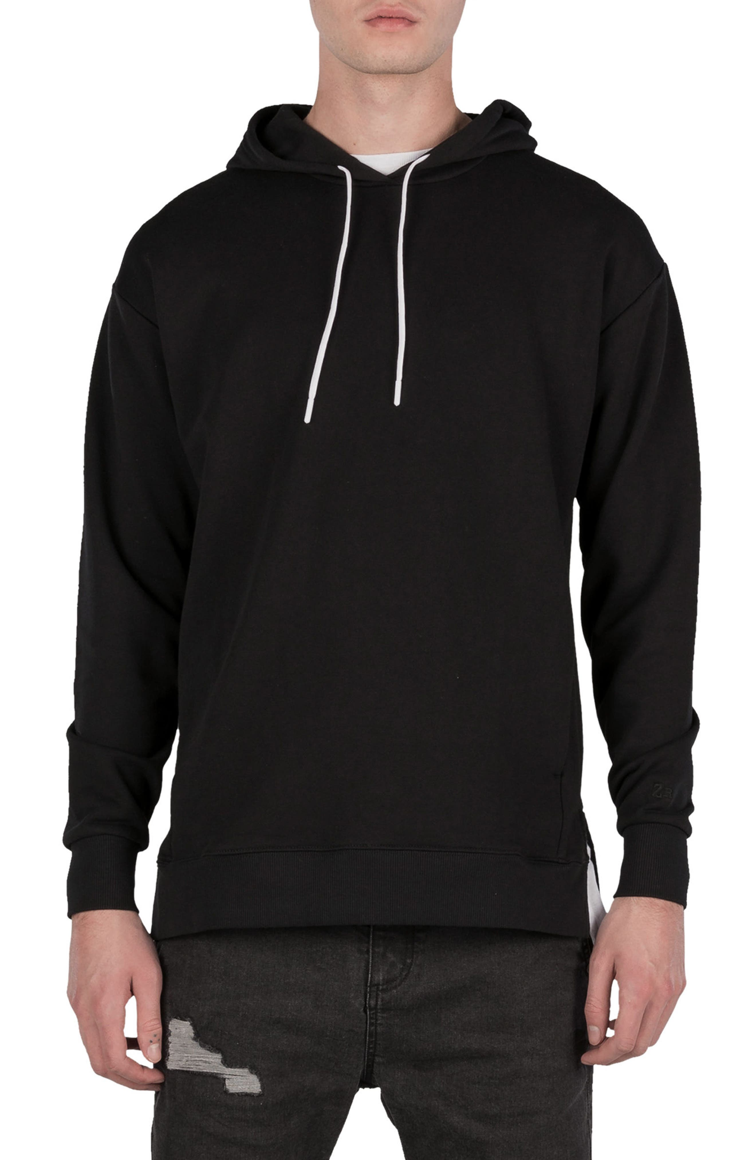 Rugger Hooded Sweatshirt,                             Main thumbnail 1, color,                             BLACK
