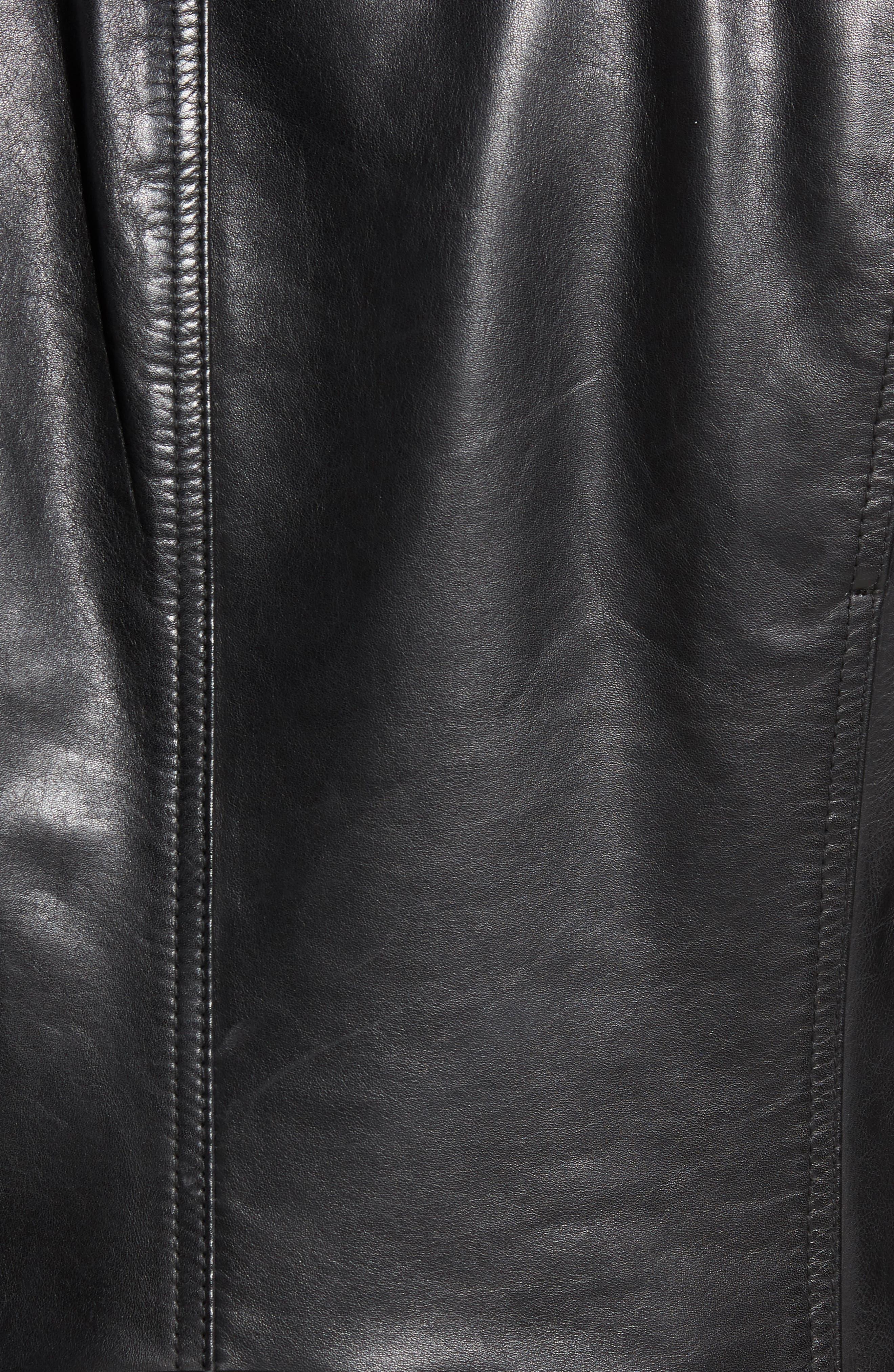 Emerson Lightweight Leather Moto Jacket,                             Alternate thumbnail 6, color,                             BLACK