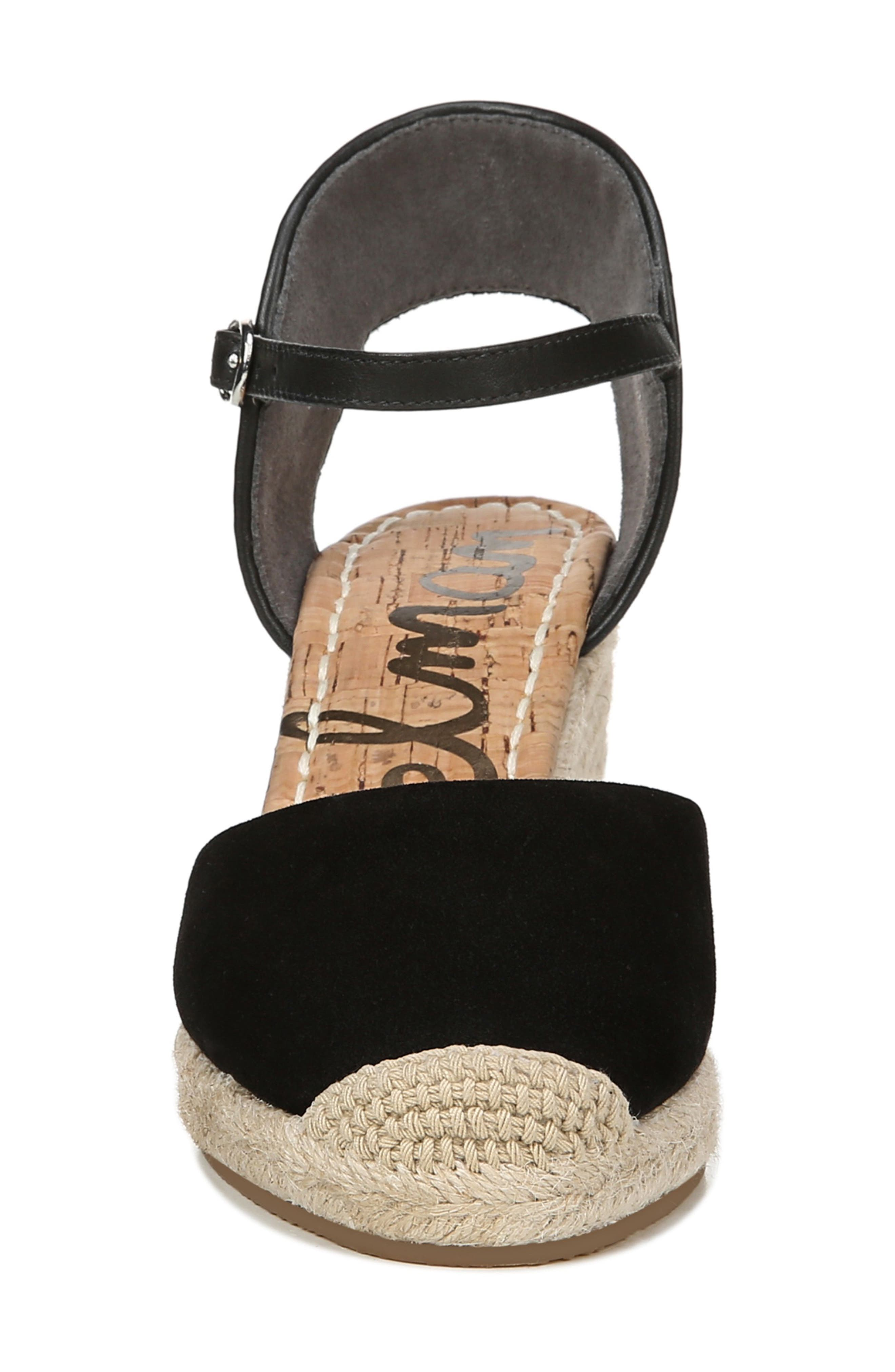 SAM EDELMAN,                             Payton Wedge Sandal,                             Alternate thumbnail 4, color,                             BLACK