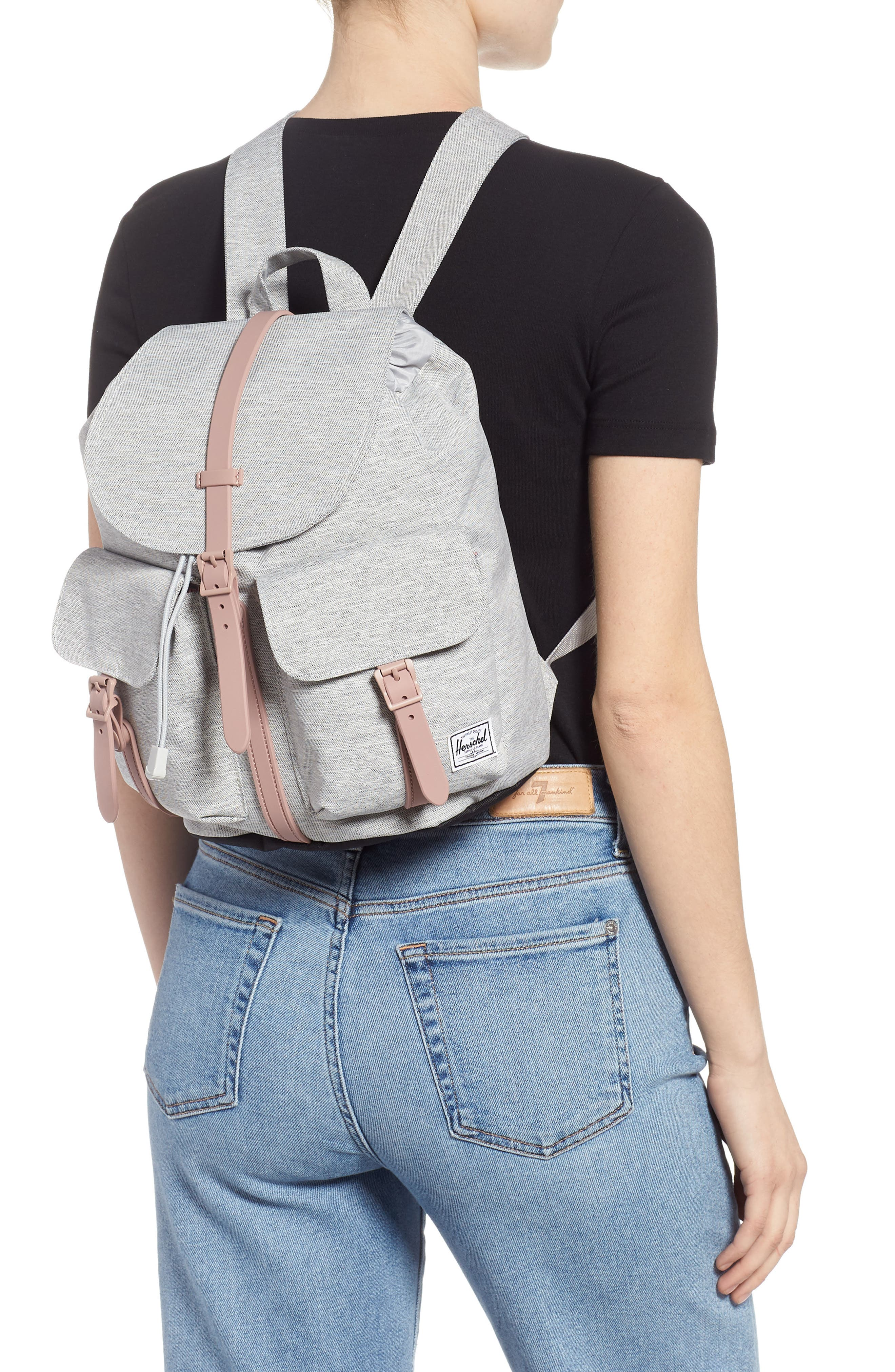 X-Small Dawson Backpack,                             Alternate thumbnail 2, color,                             LIGHT GREY/ ASH ROSE/ BLACK