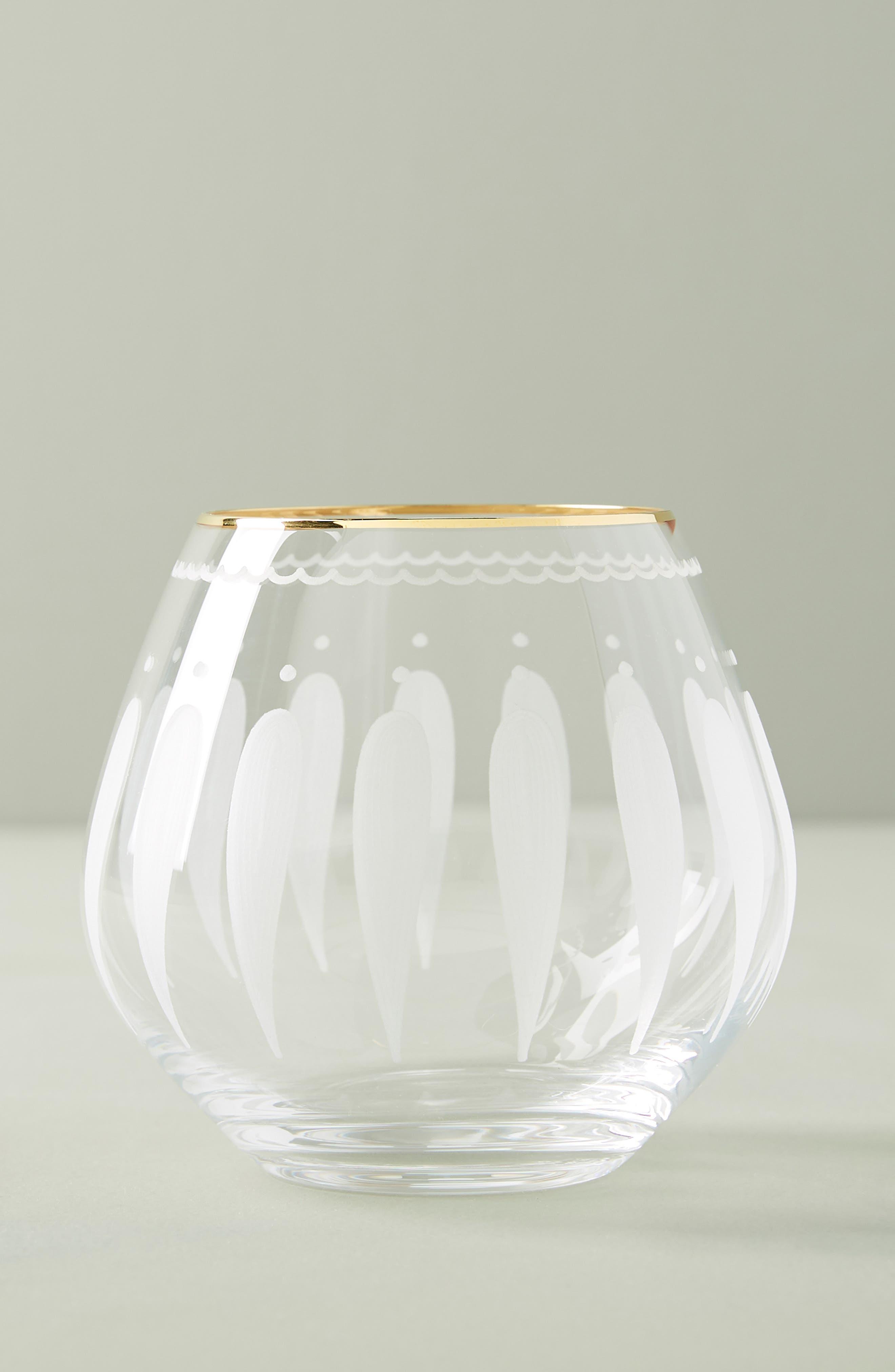 Odele Set of 4 Stemless Wine Glasses, Main, color, CLEAR