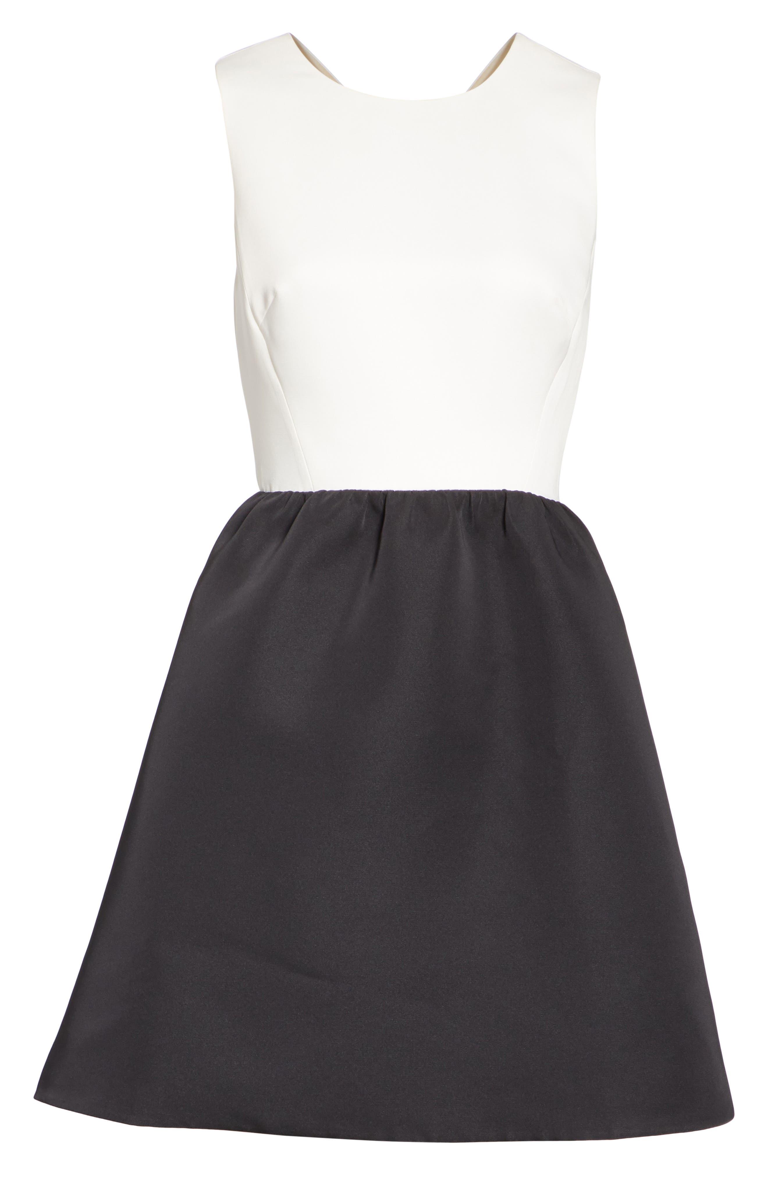 bow back mini dress,                             Alternate thumbnail 6, color,                             017