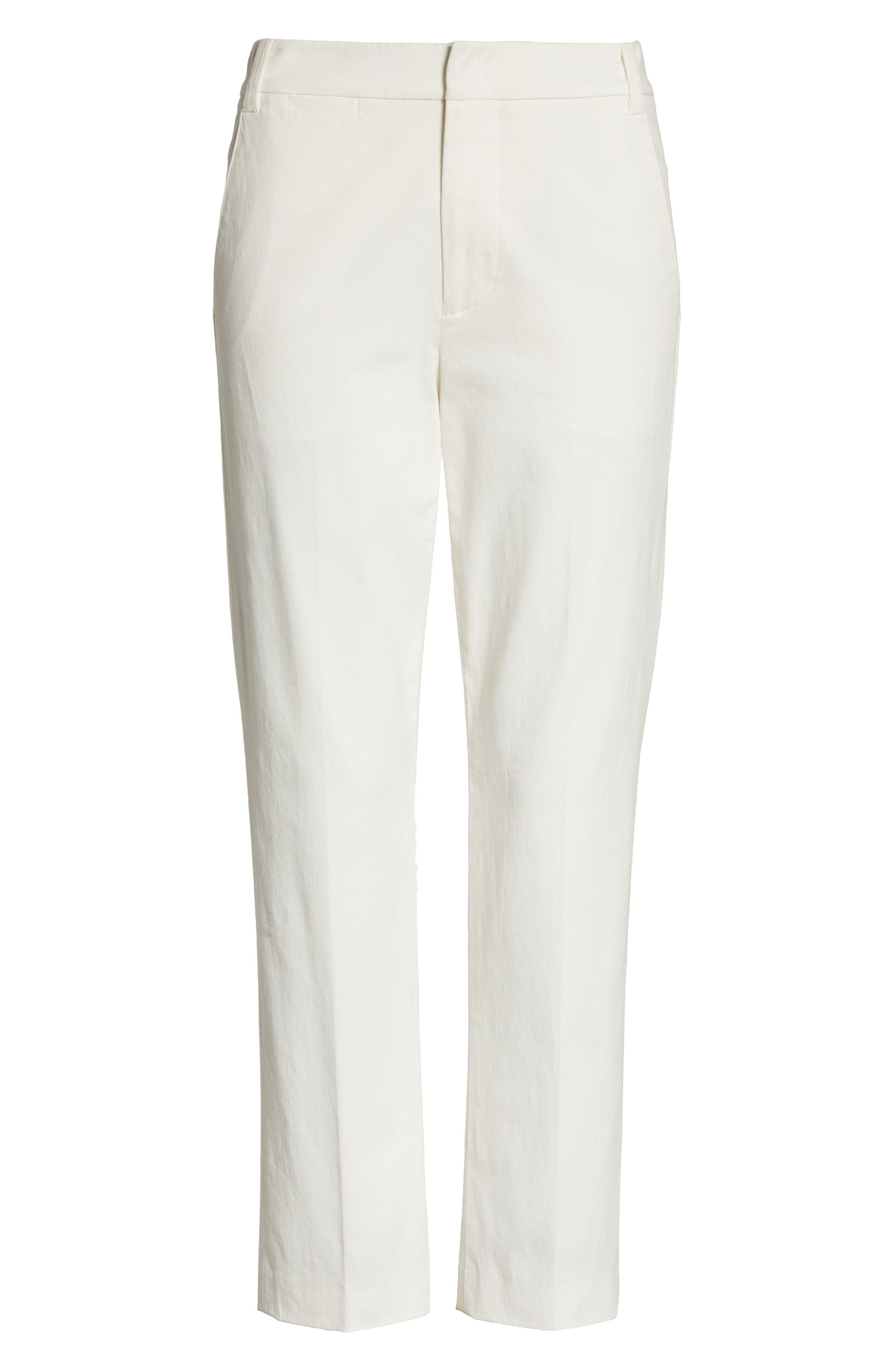 Crop Chino Pants,                             Alternate thumbnail 6, color,                             OFF WHITE