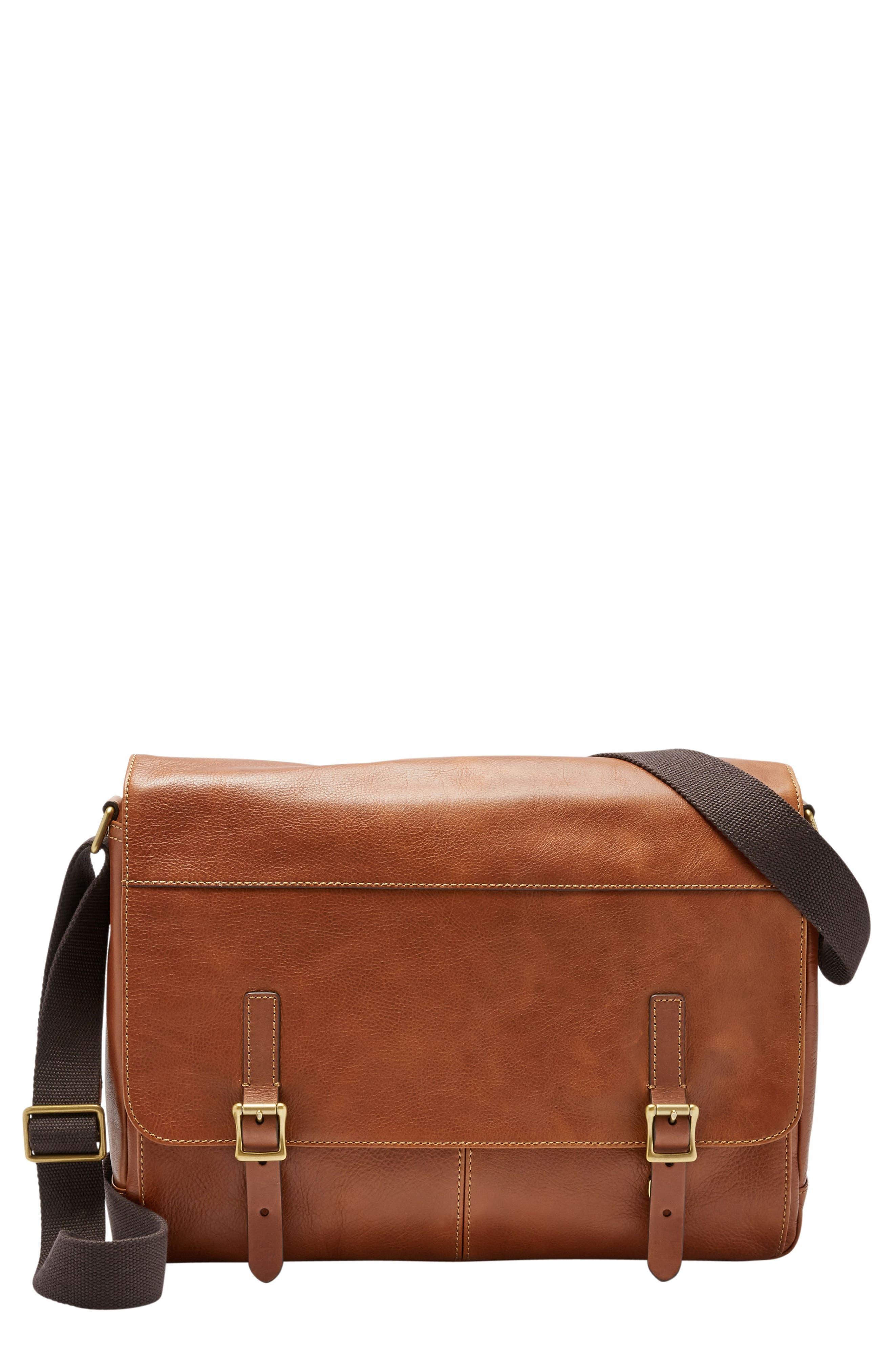 'Defender' Leather Messenger Bag,                         Main,                         color, 202