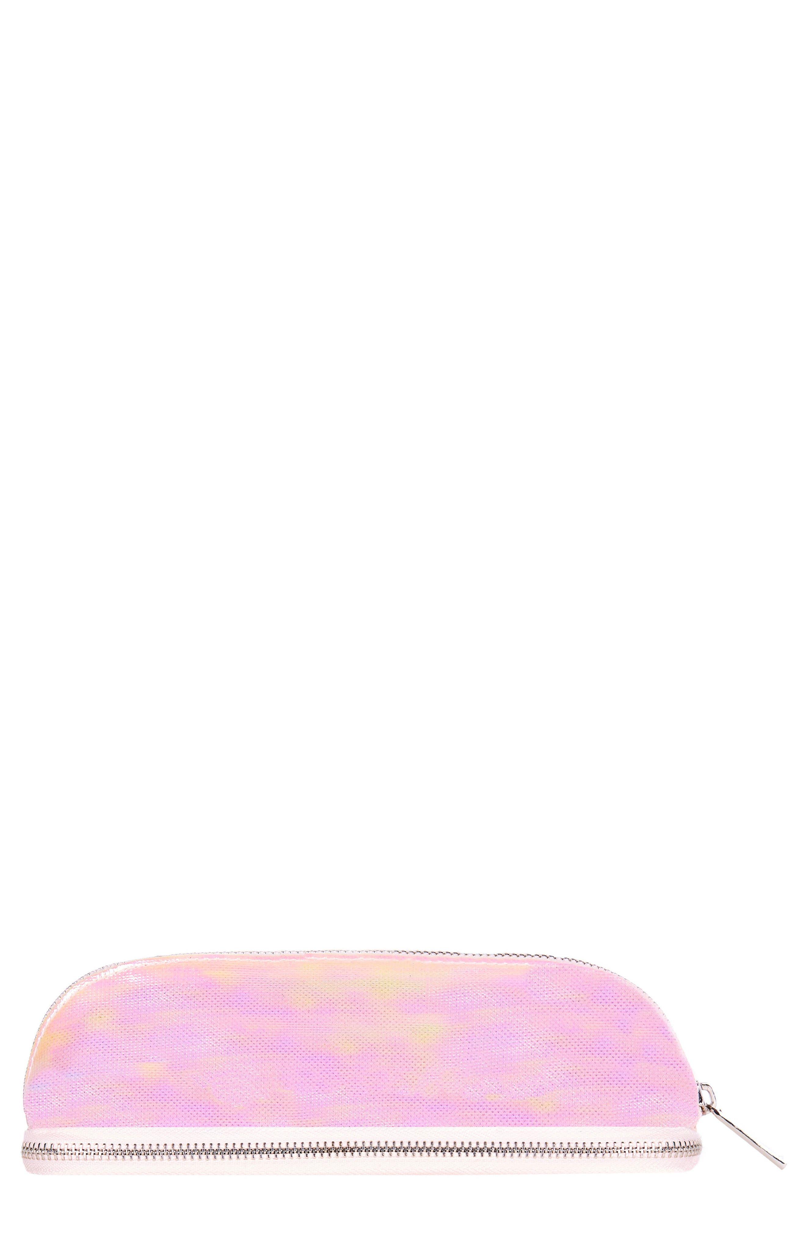 Glacier Makeup Brush Cosmetics Case,                         Main,                         color, NO COLOR