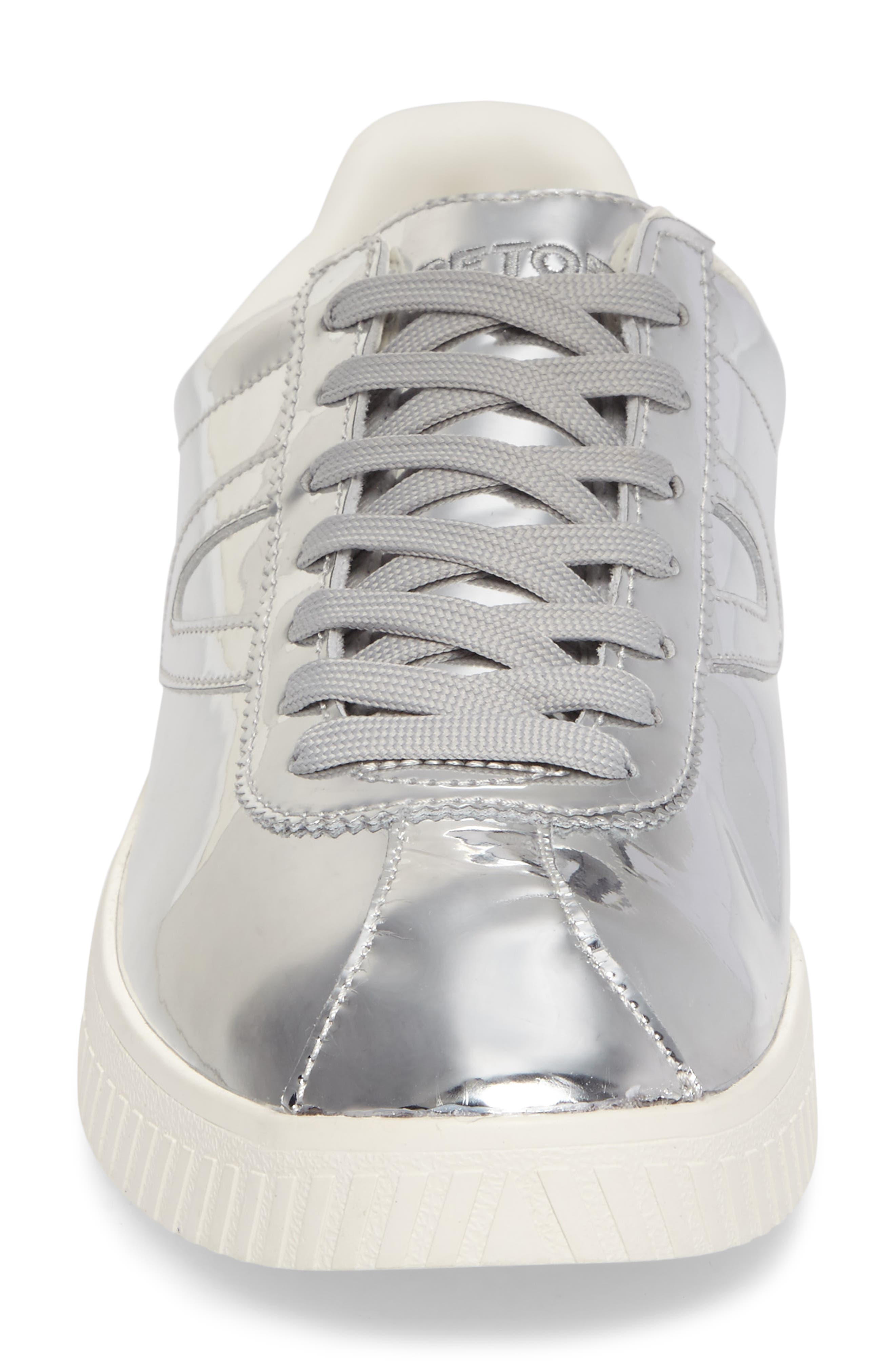 Camden 2 Sneaker,                             Alternate thumbnail 4, color,                             SILVER LEATHER