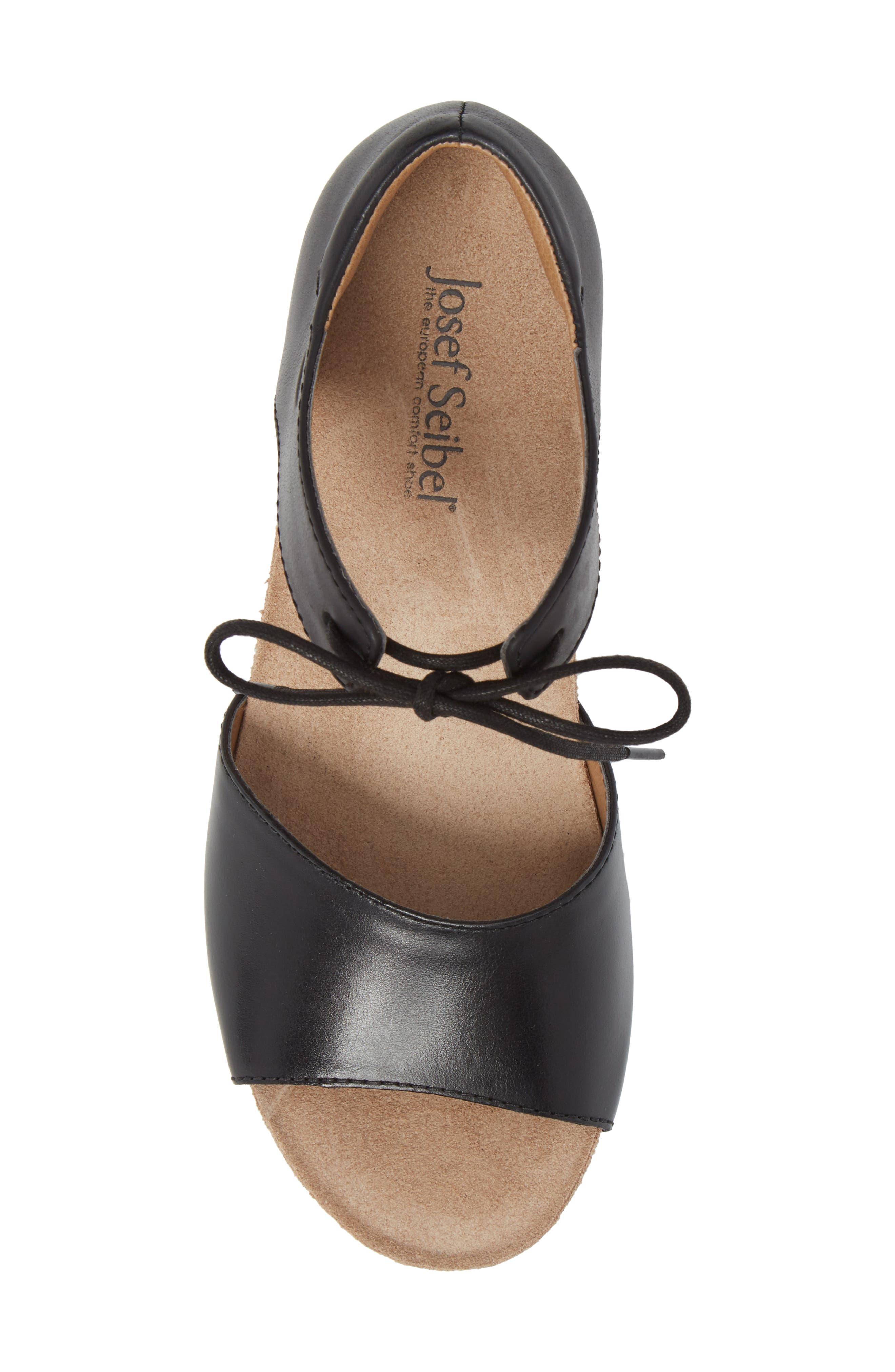JOSEF SEIBEL,                             Rose 23 Tie Front Sandal,                             Alternate thumbnail 5, color,                             001