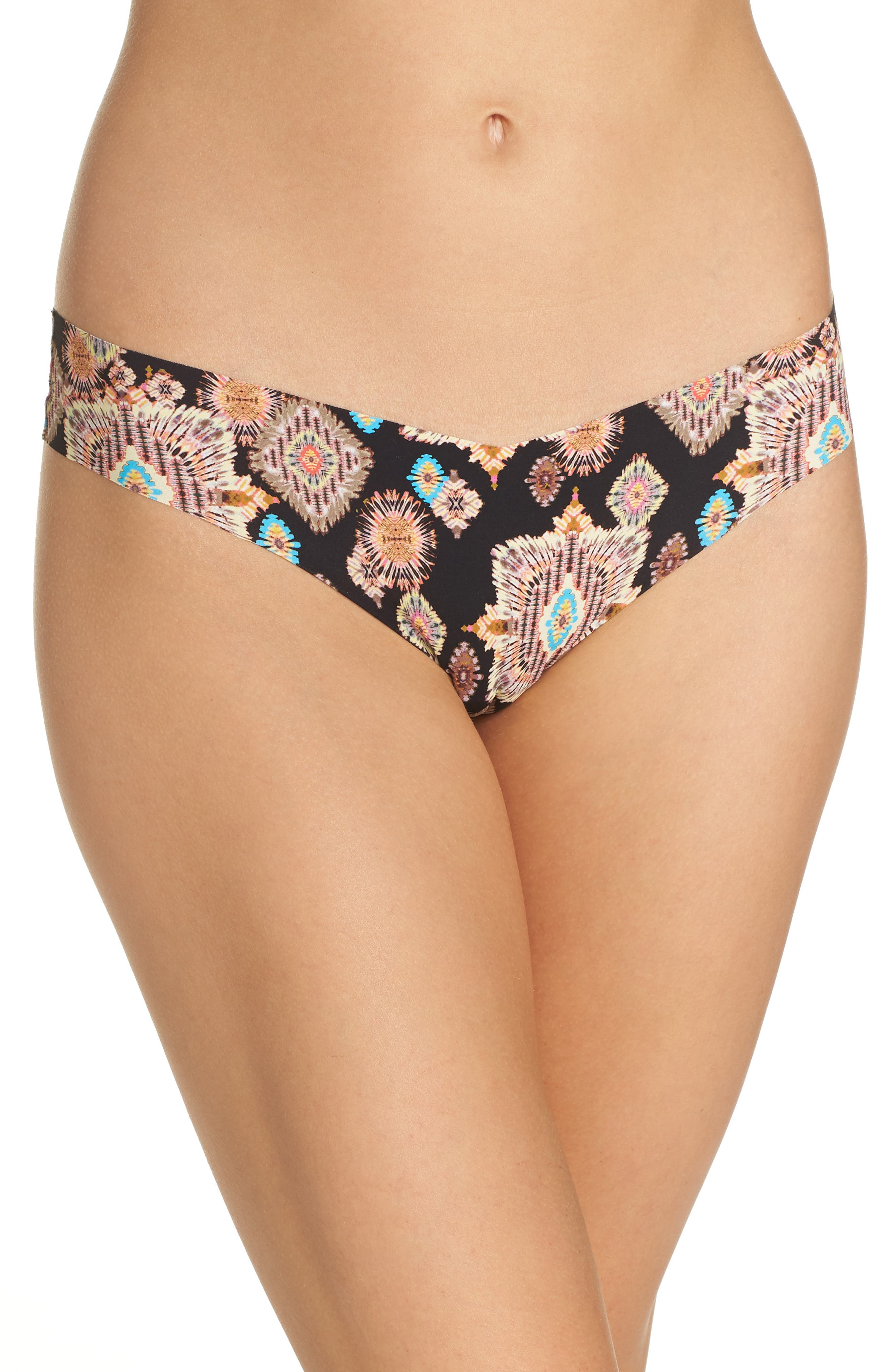 Print Microfiber Thong,                             Main thumbnail 3, color,