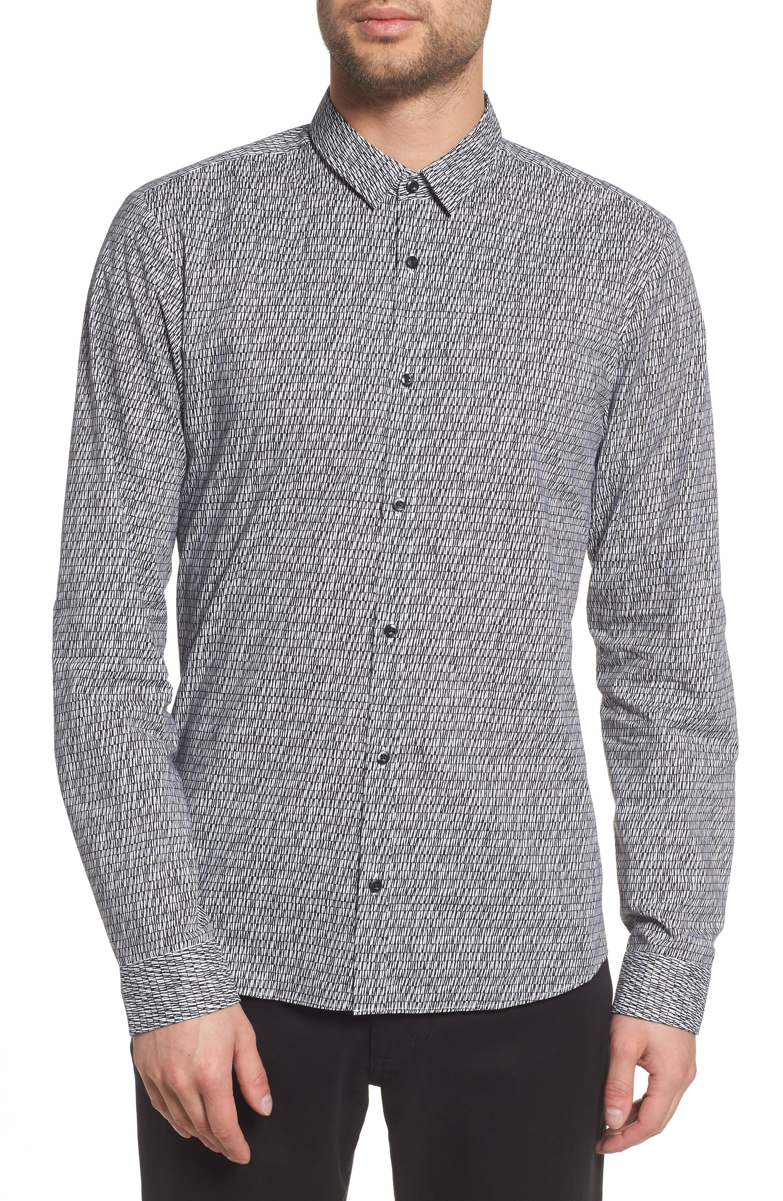 Ero Allover Print Slim Fit Sport Shirt,                             Main thumbnail 1, color,                             001