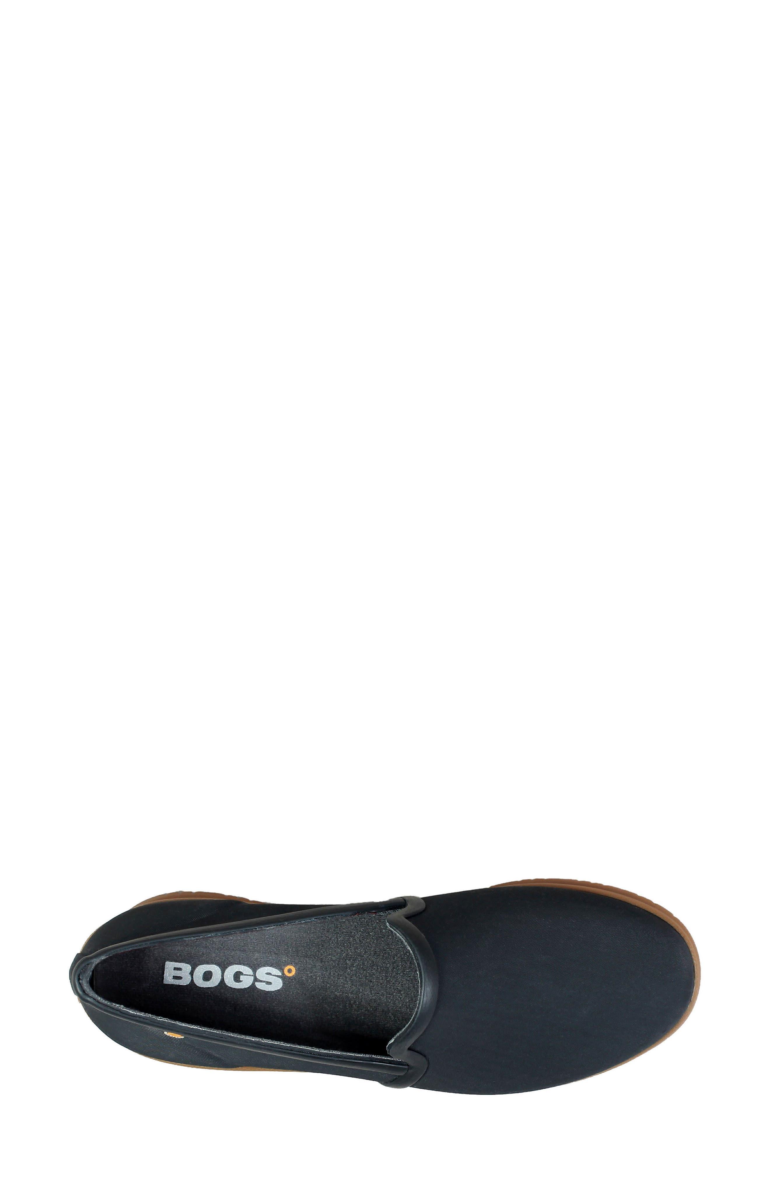 Sweetpea Waterproof Slip-On Sneaker,                             Alternate thumbnail 5, color,                             BLACK FABRIC