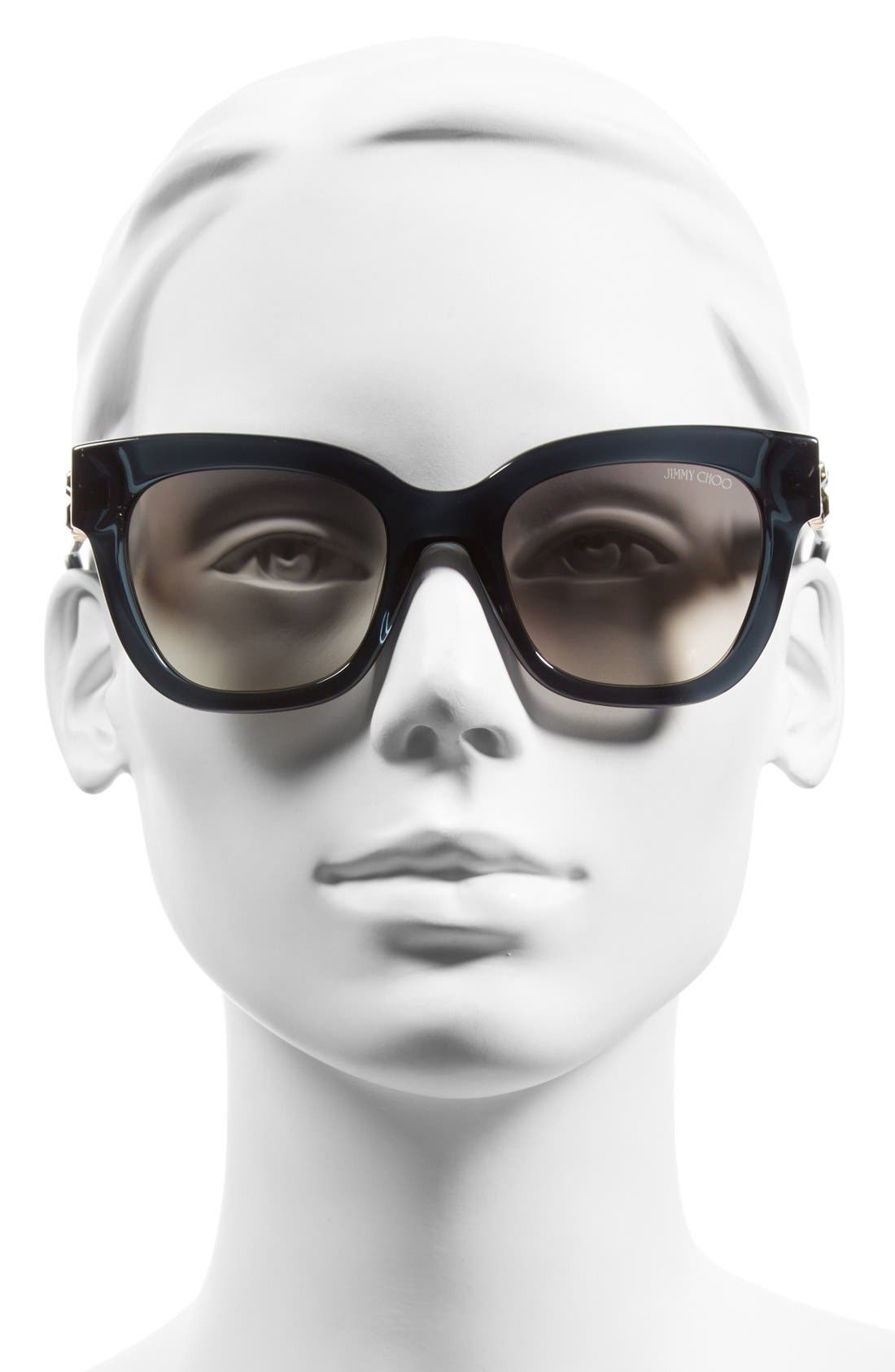 'Maggi' 51mm Crystal Embellished Sunglasses,                             Alternate thumbnail 2, color,                             020