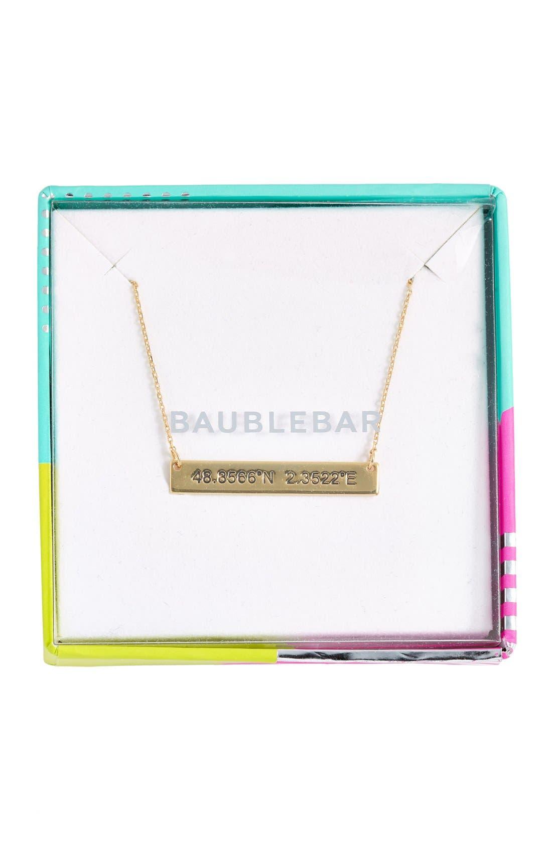 Coordinate Bar Pendant Necklace,                             Alternate thumbnail 11, color,