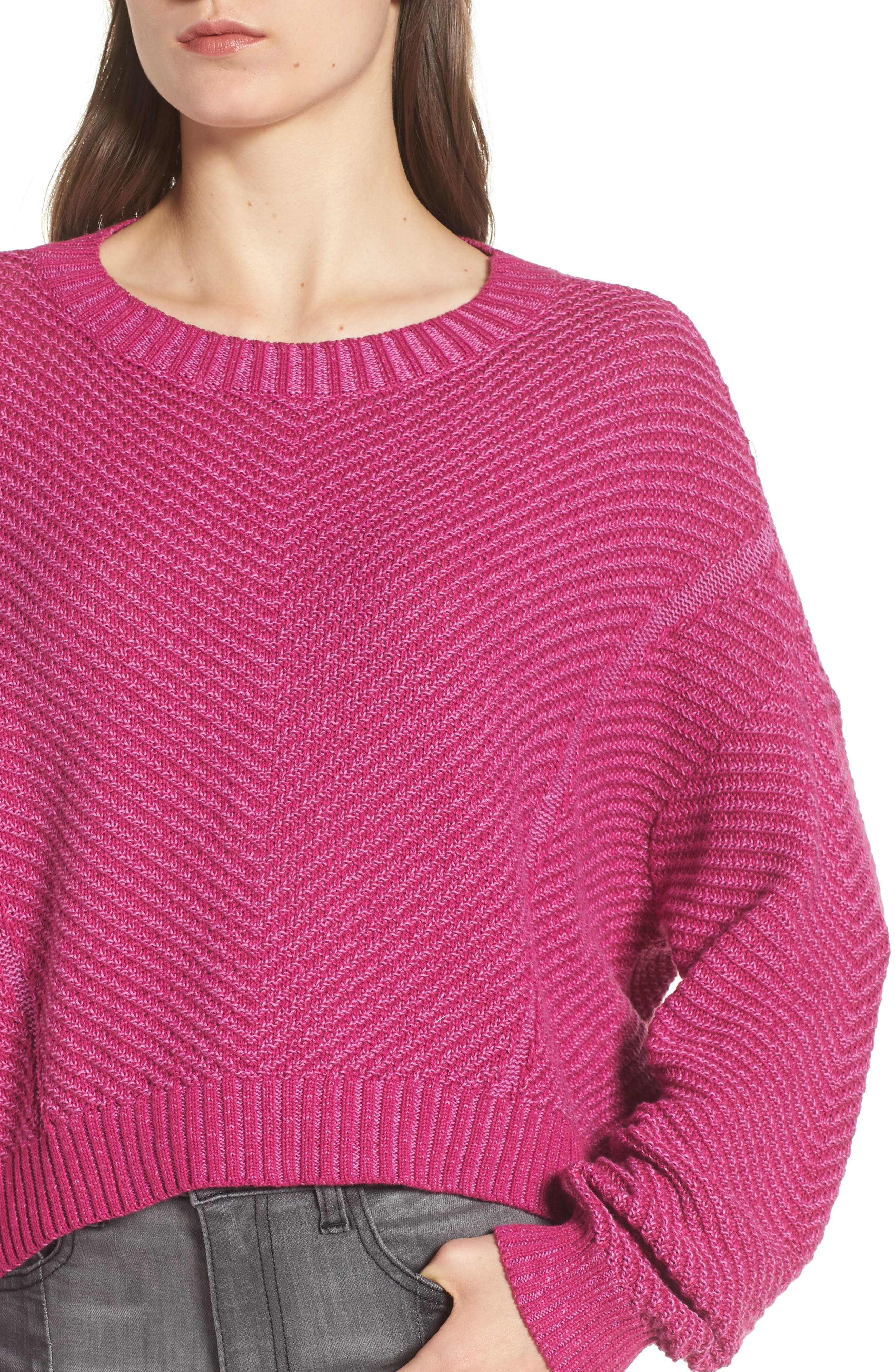 Plaited Drop Shoulder Sweater,                             Alternate thumbnail 8, color,