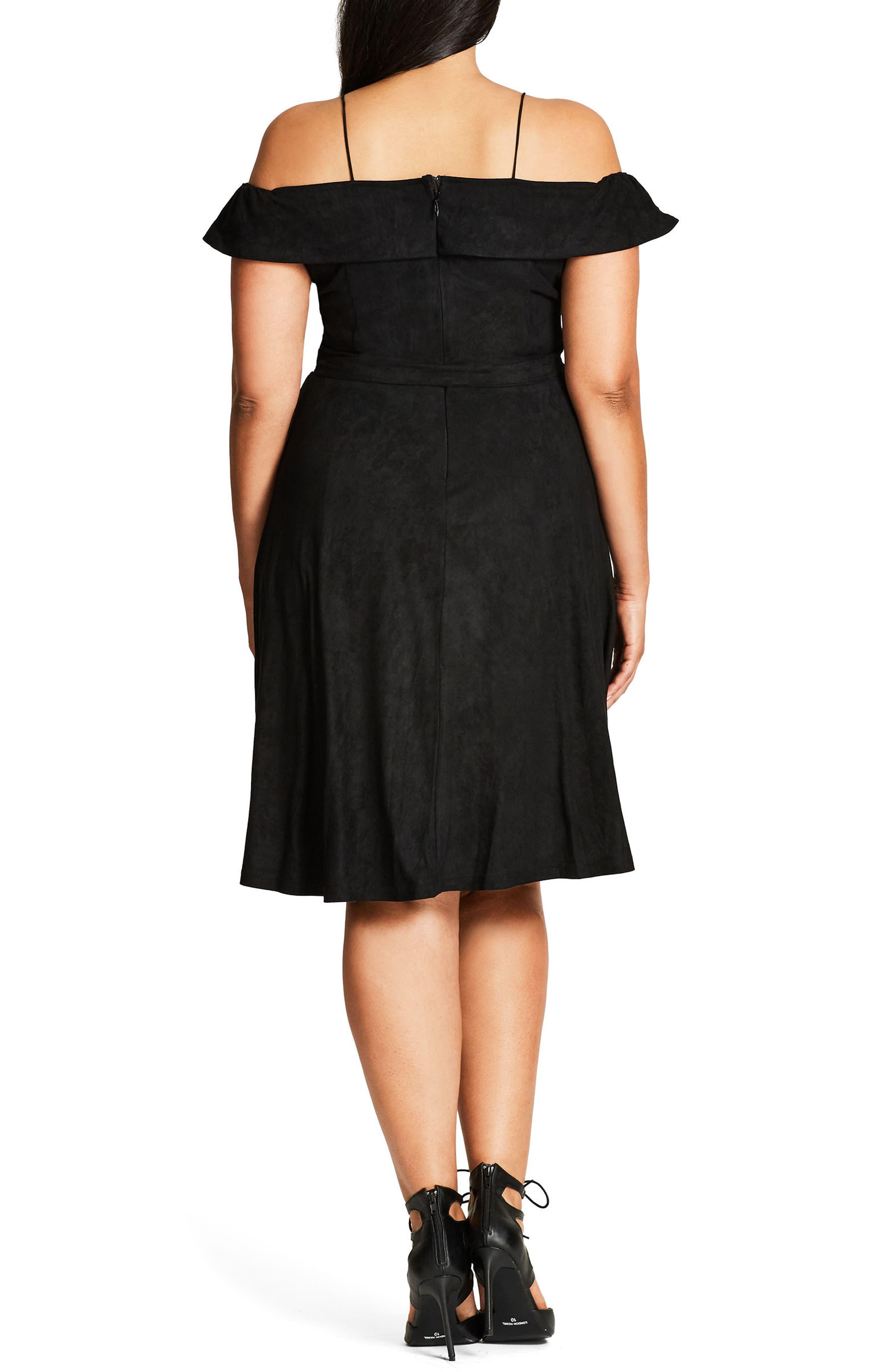 Ooh La La Faux Suede Dress,                             Alternate thumbnail 5, color,