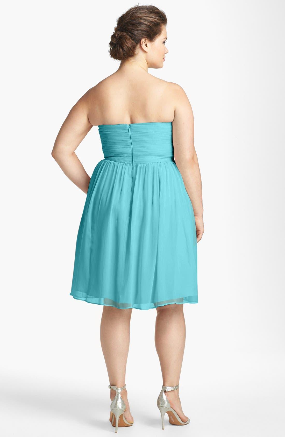 'Morgan' Strapless Silk Chiffon Dress,                             Alternate thumbnail 54, color,