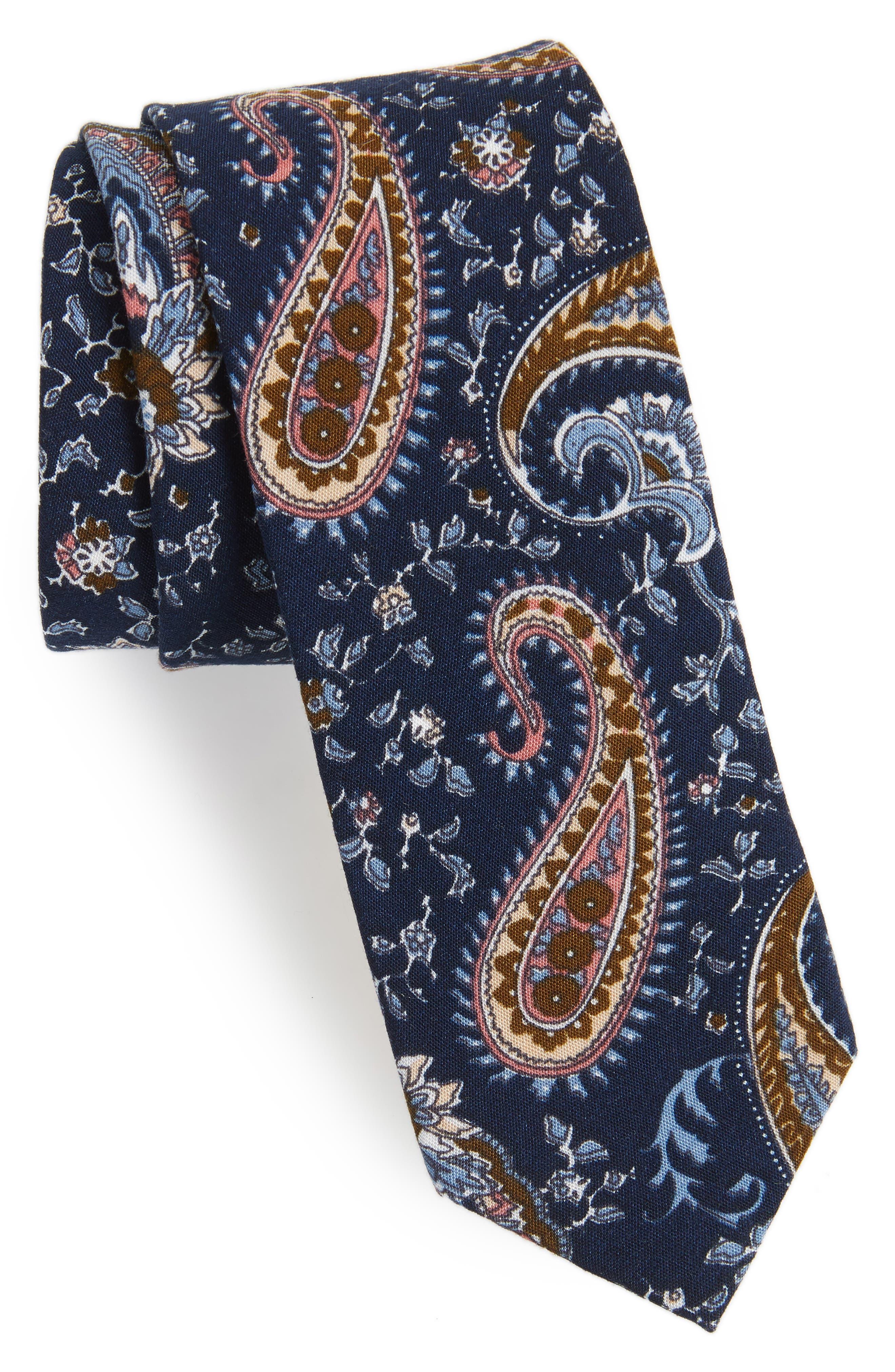 Firenza Paisley Tie,                             Main thumbnail 1, color,