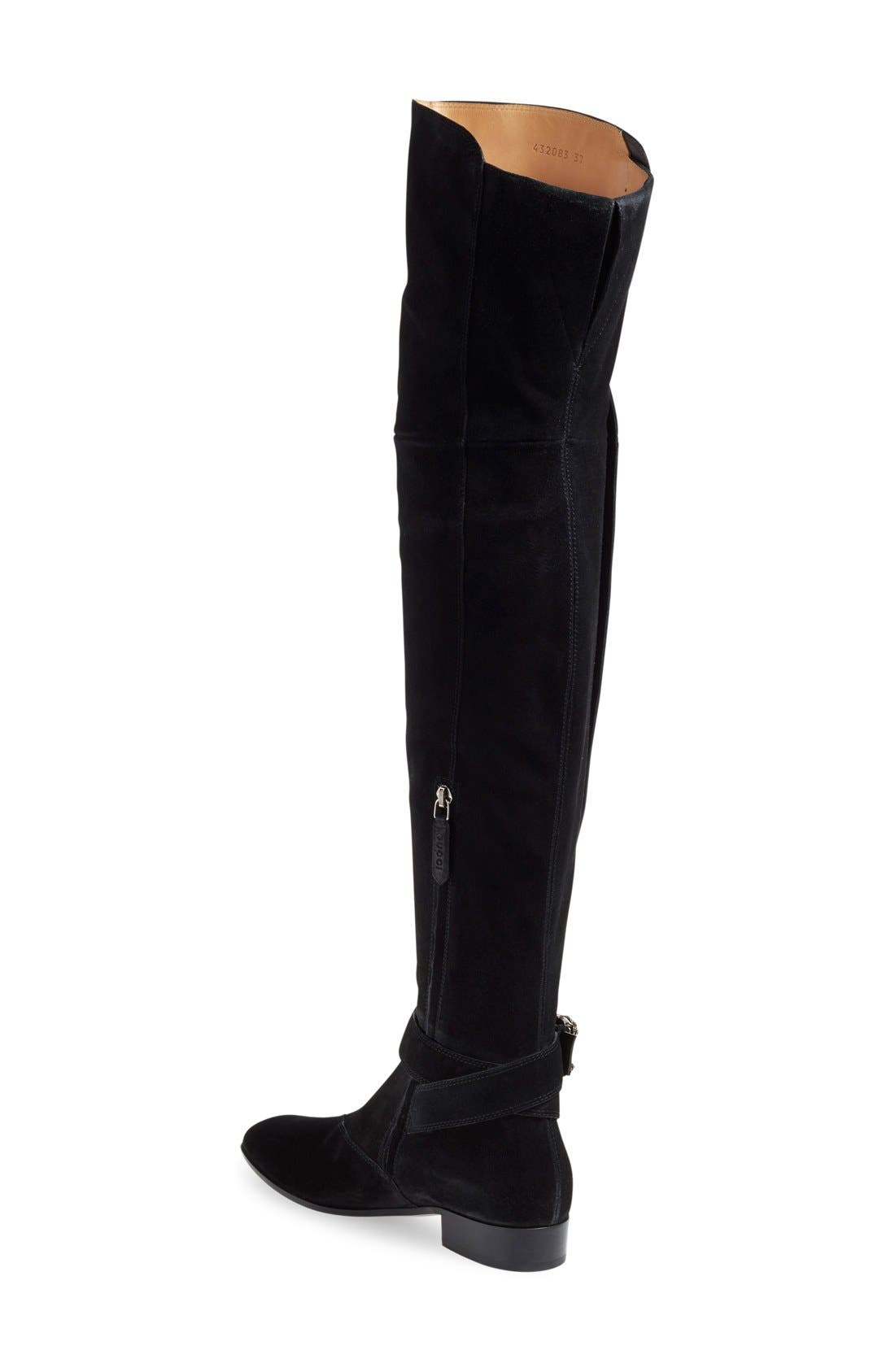 'Dionysus' Over the Knee Boot,                             Alternate thumbnail 3, color,                             001