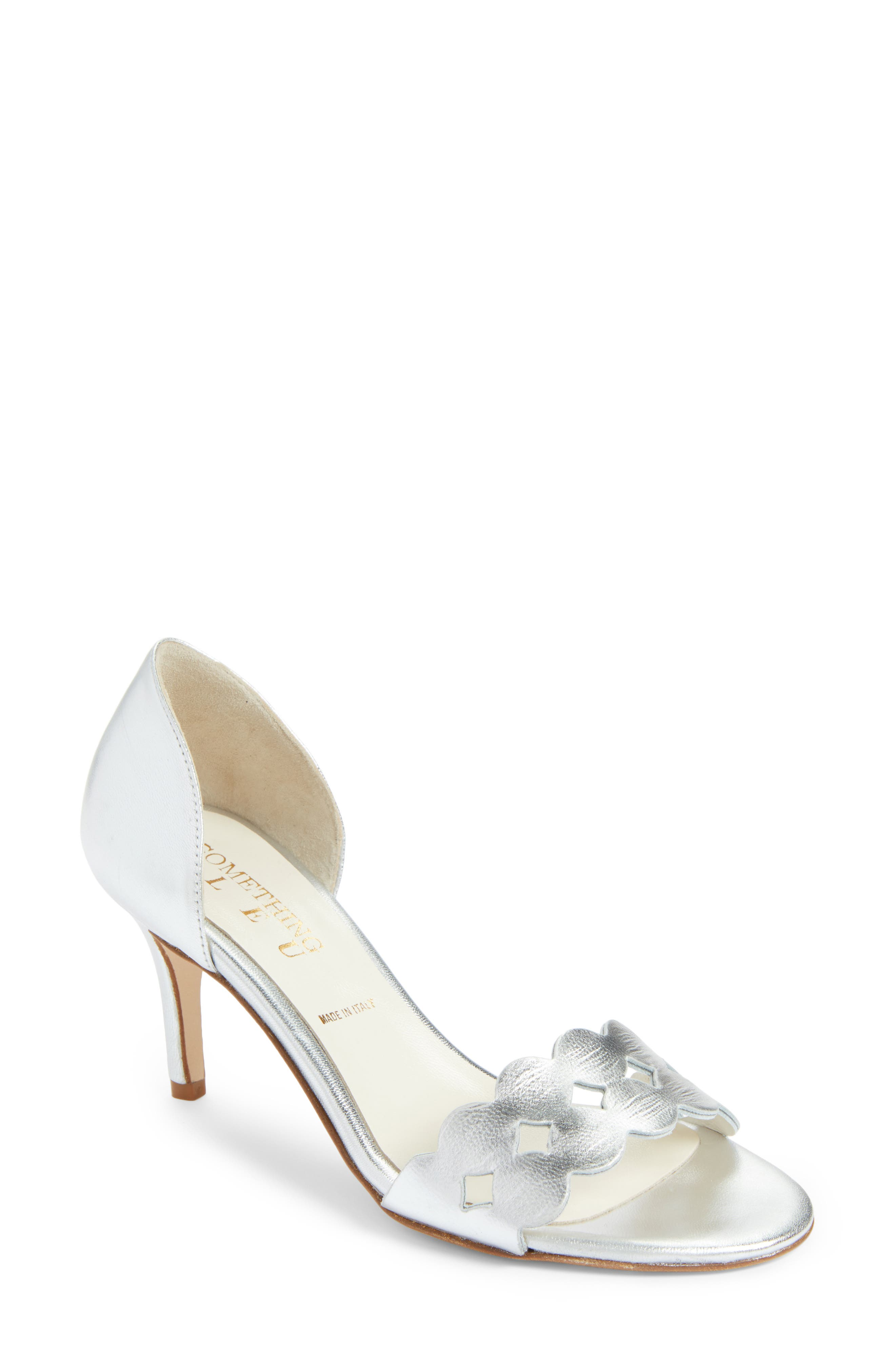 Catherine Cutout Sandal,                             Main thumbnail 1, color,                             SILVER METALLIC NAPPA