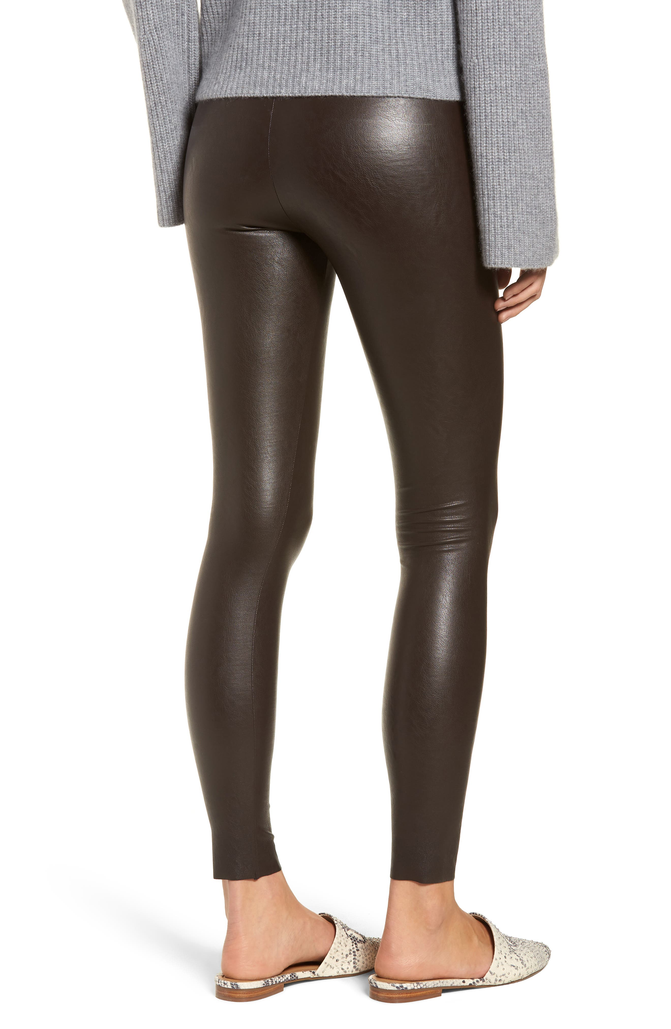 Perfect Control Faux Leather Leggings,                             Alternate thumbnail 2, color,                             201