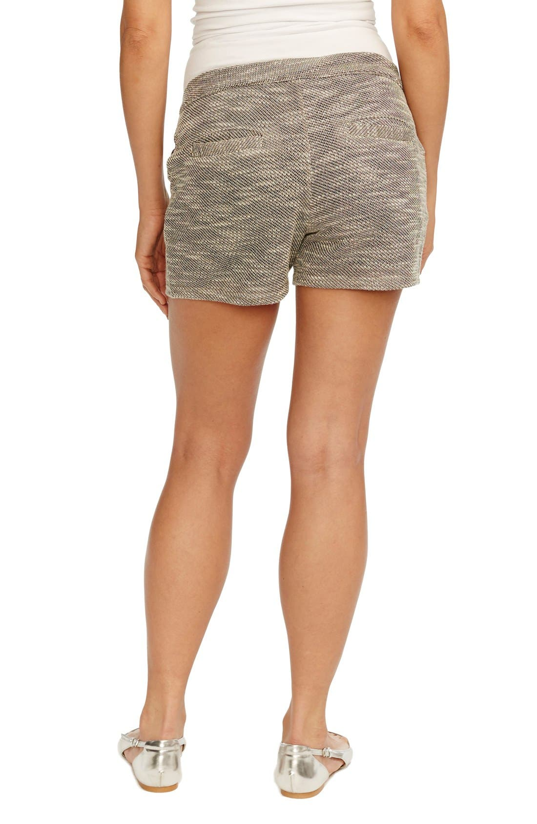 'Boardwalk' Woven Maternity Shorts,                             Alternate thumbnail 3, color,                             002