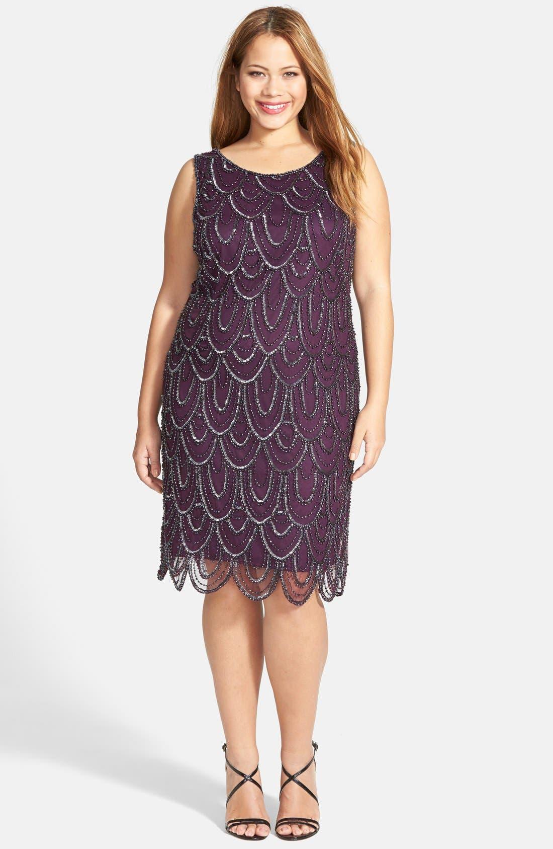 Beaded Sheath Dress,                             Alternate thumbnail 66, color,