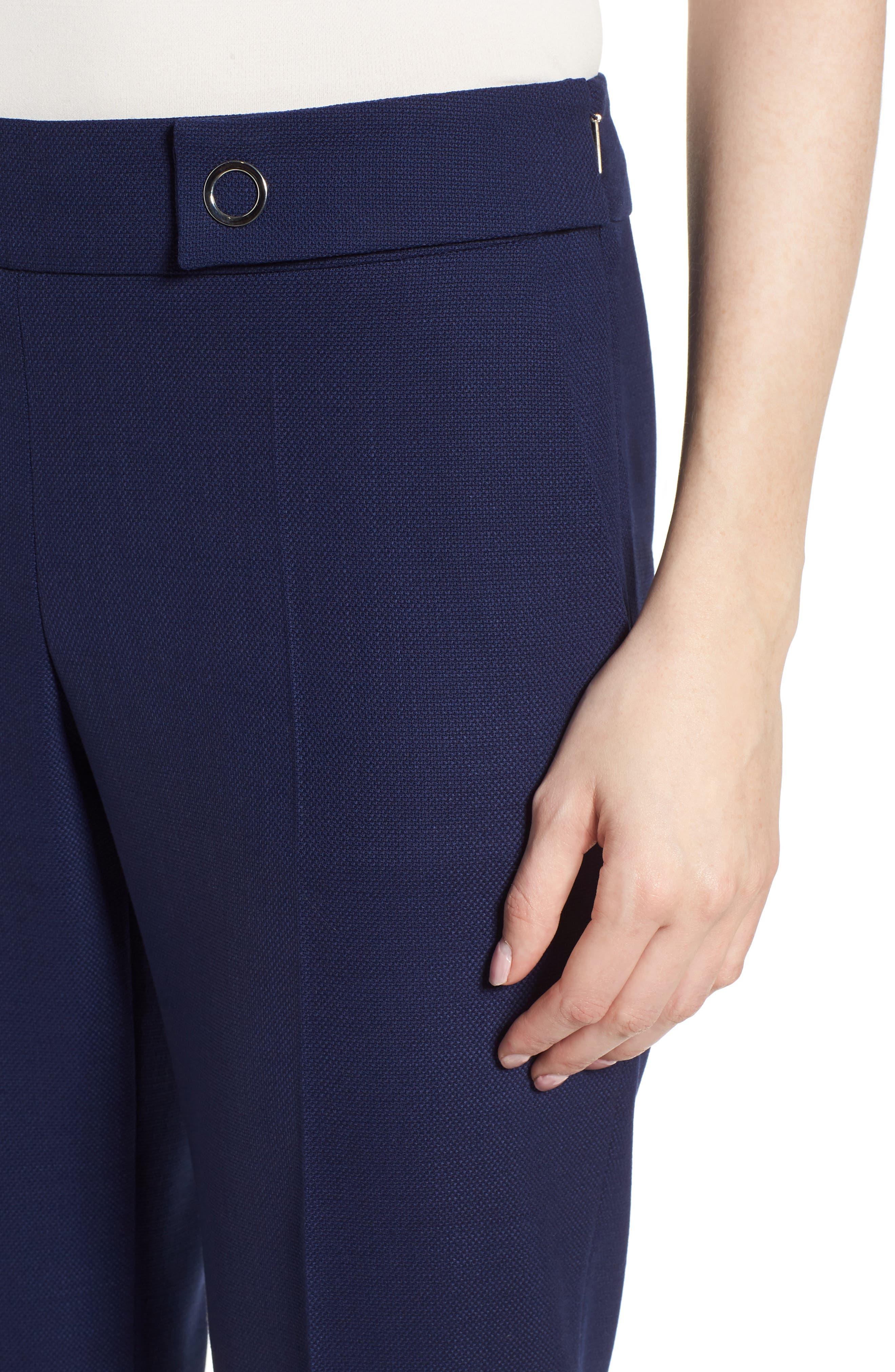 Tibalena Textured Stretch Wool Suit Pants,                             Alternate thumbnail 4, color,                             425