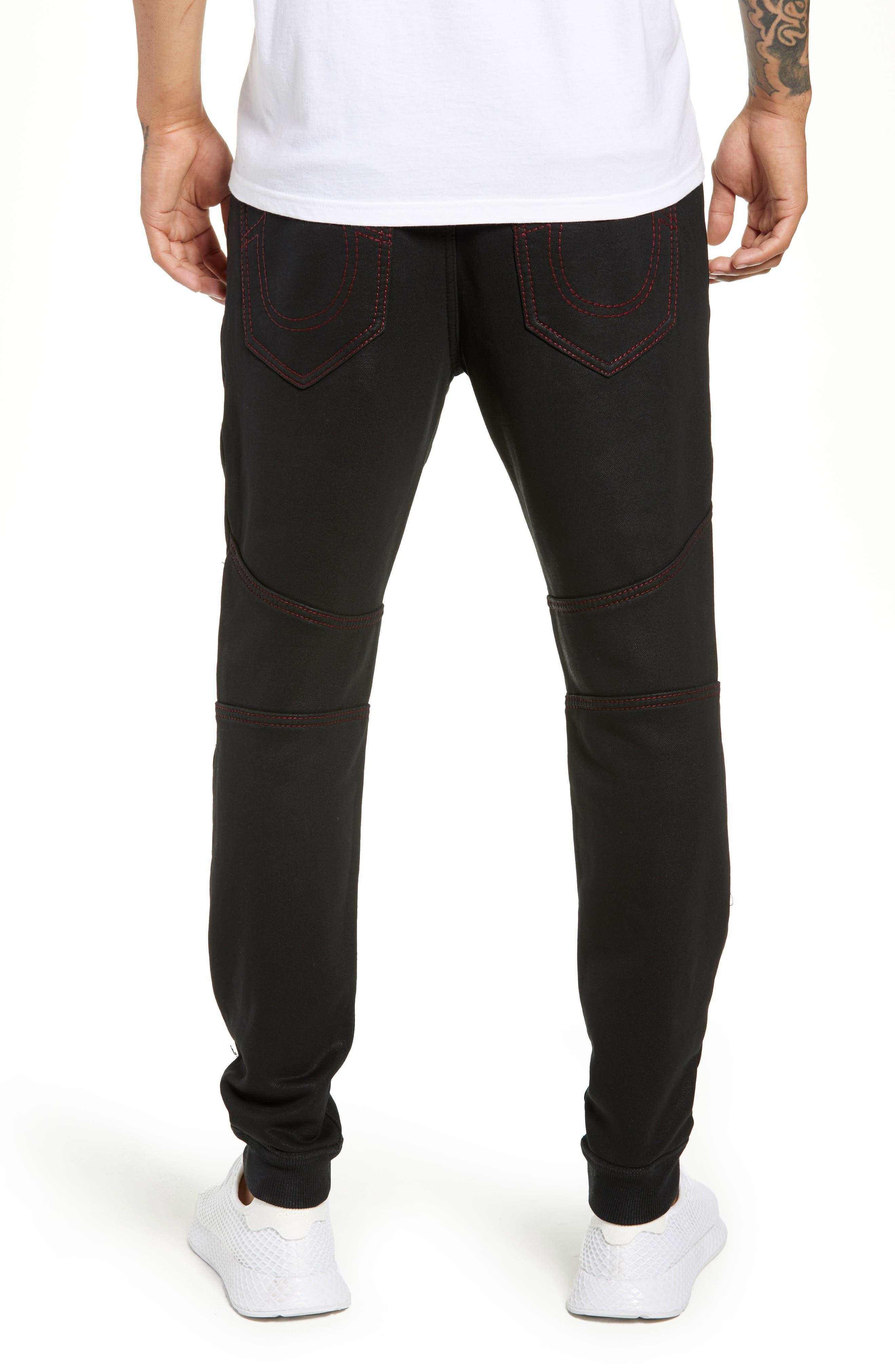 Moto Active Sweatpants,                             Alternate thumbnail 2, color,                             TRUE BLACK