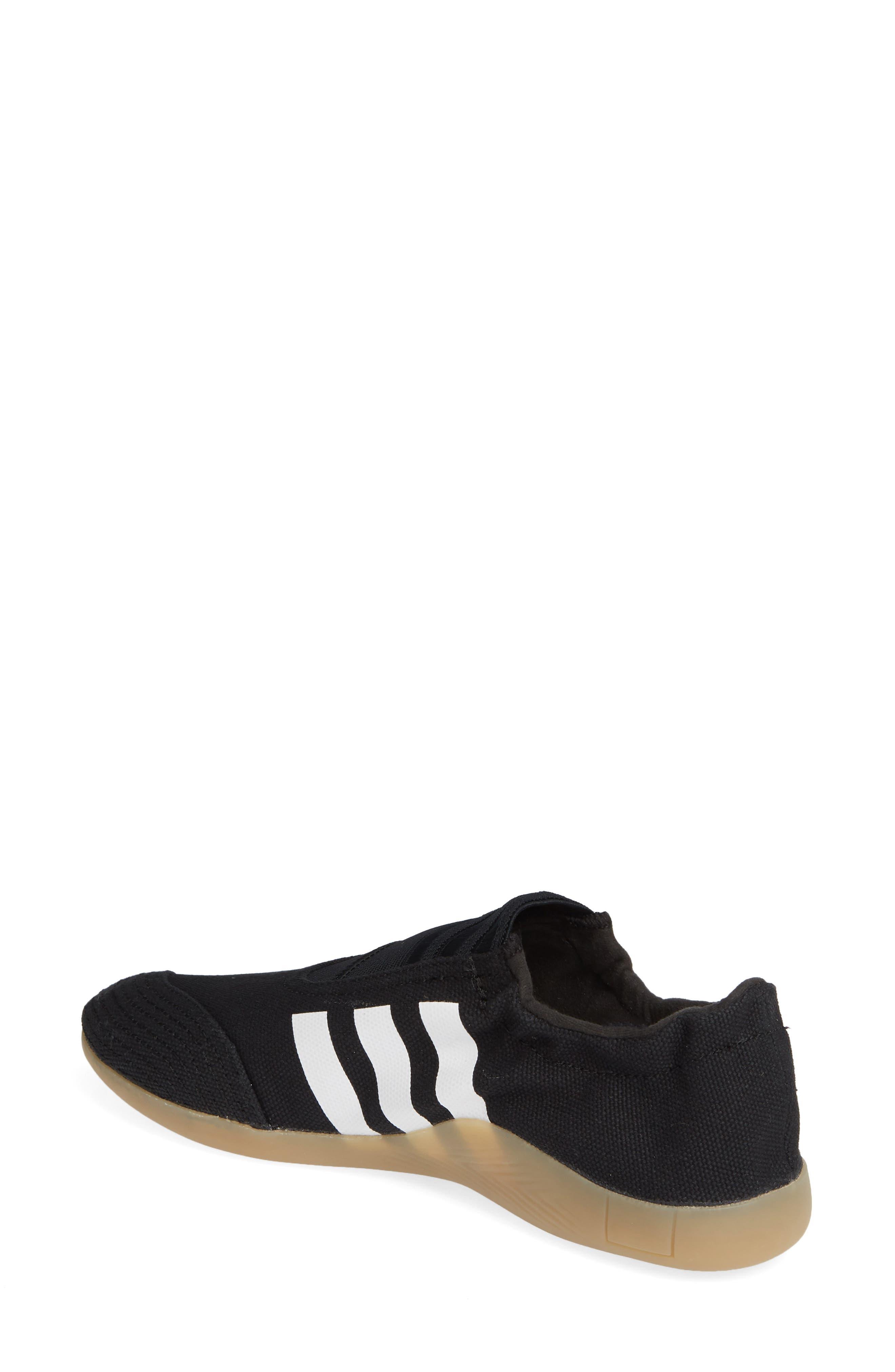 Taekwondo Slip-On Sneaker,                             Alternate thumbnail 2, color,                             CORE BLACK/ WHITE/ GUM 3