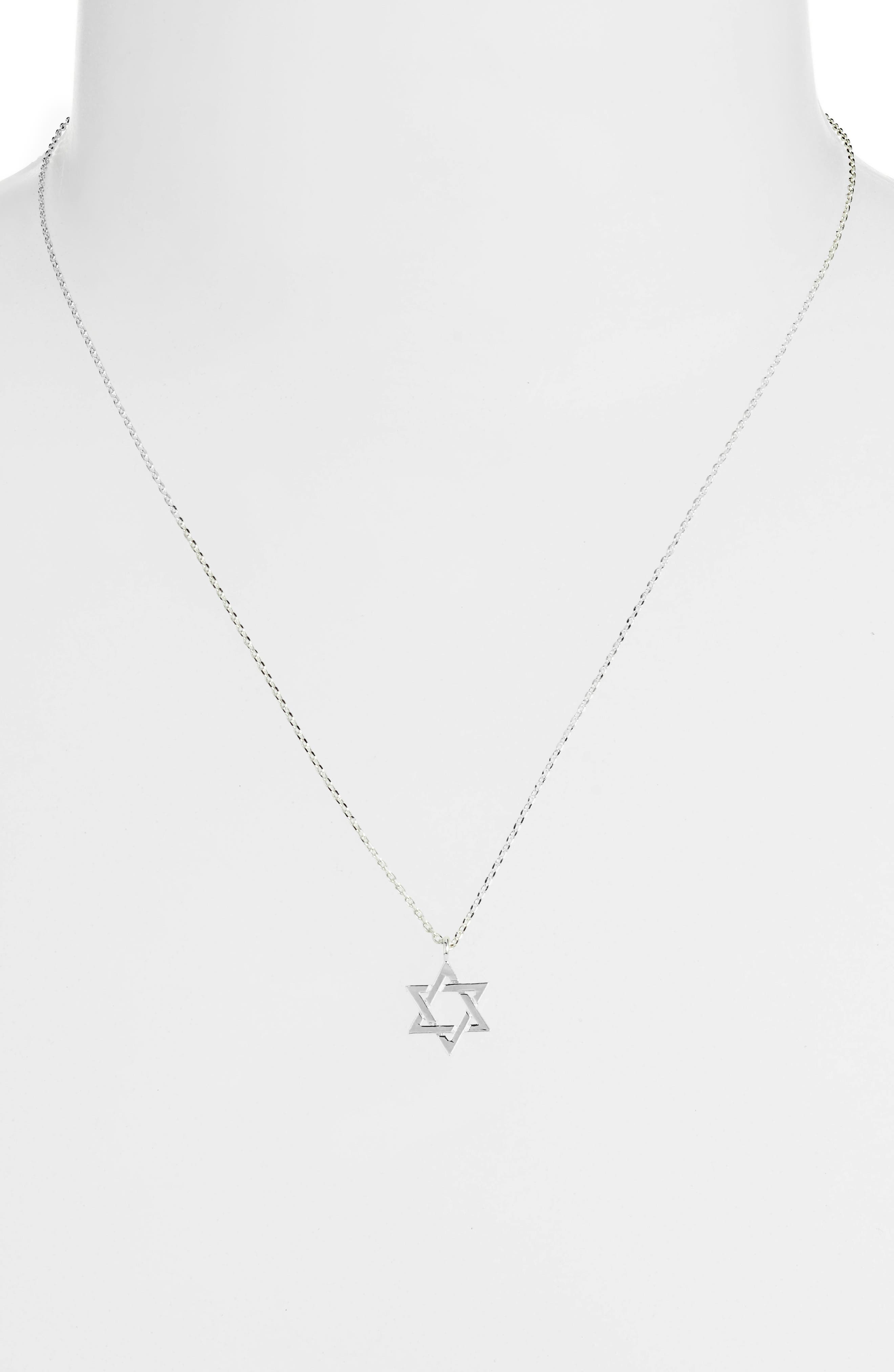 Star of David Necklace,                             Alternate thumbnail 2, color,                             SILVER