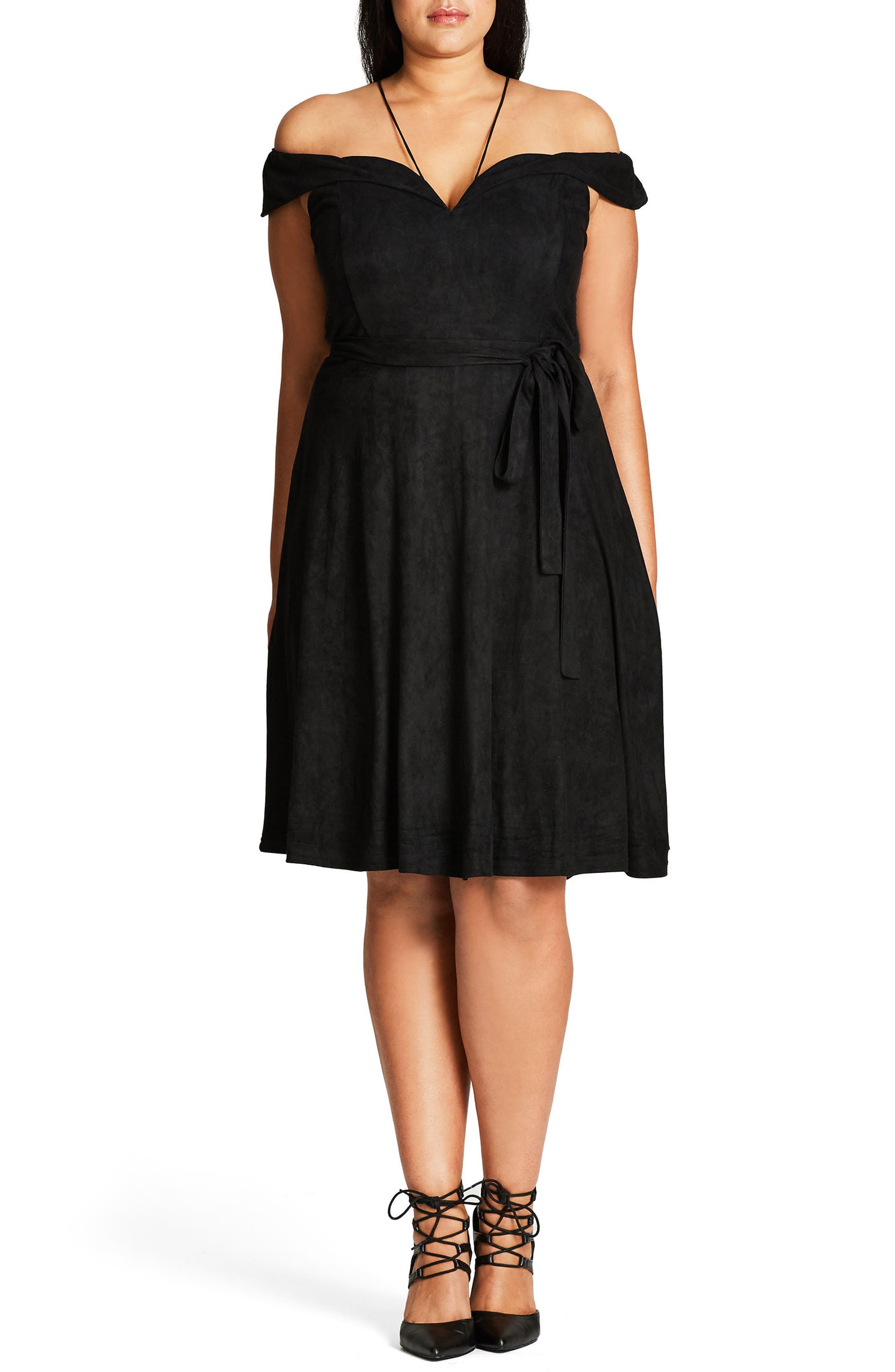 Ooh La La Faux Suede Dress,                             Alternate thumbnail 3, color,
