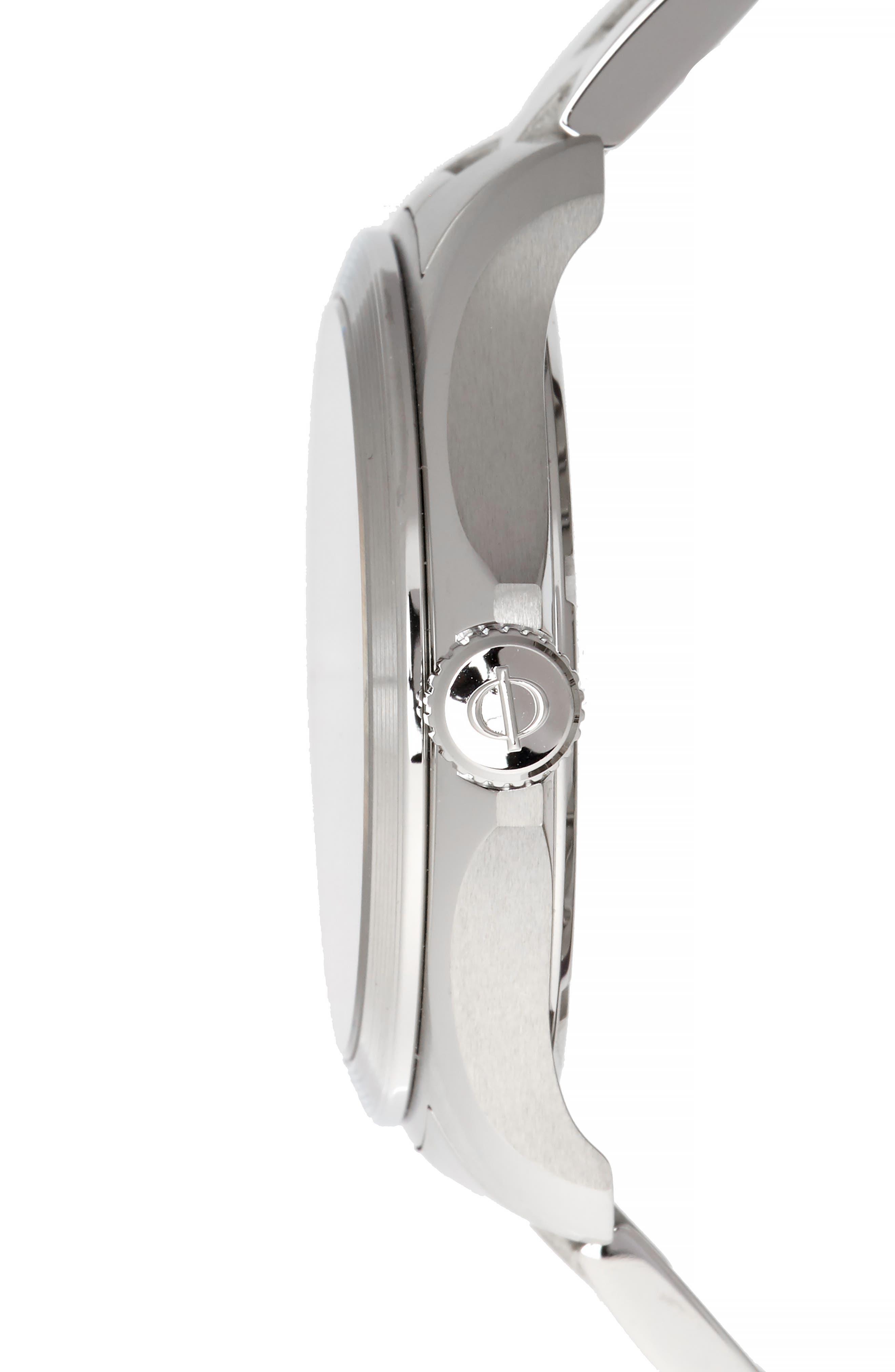 Baume & Mercier Clifton Club Bracelet Watch, 42mm,                             Alternate thumbnail 3, color,                             BLUE/SILVER
