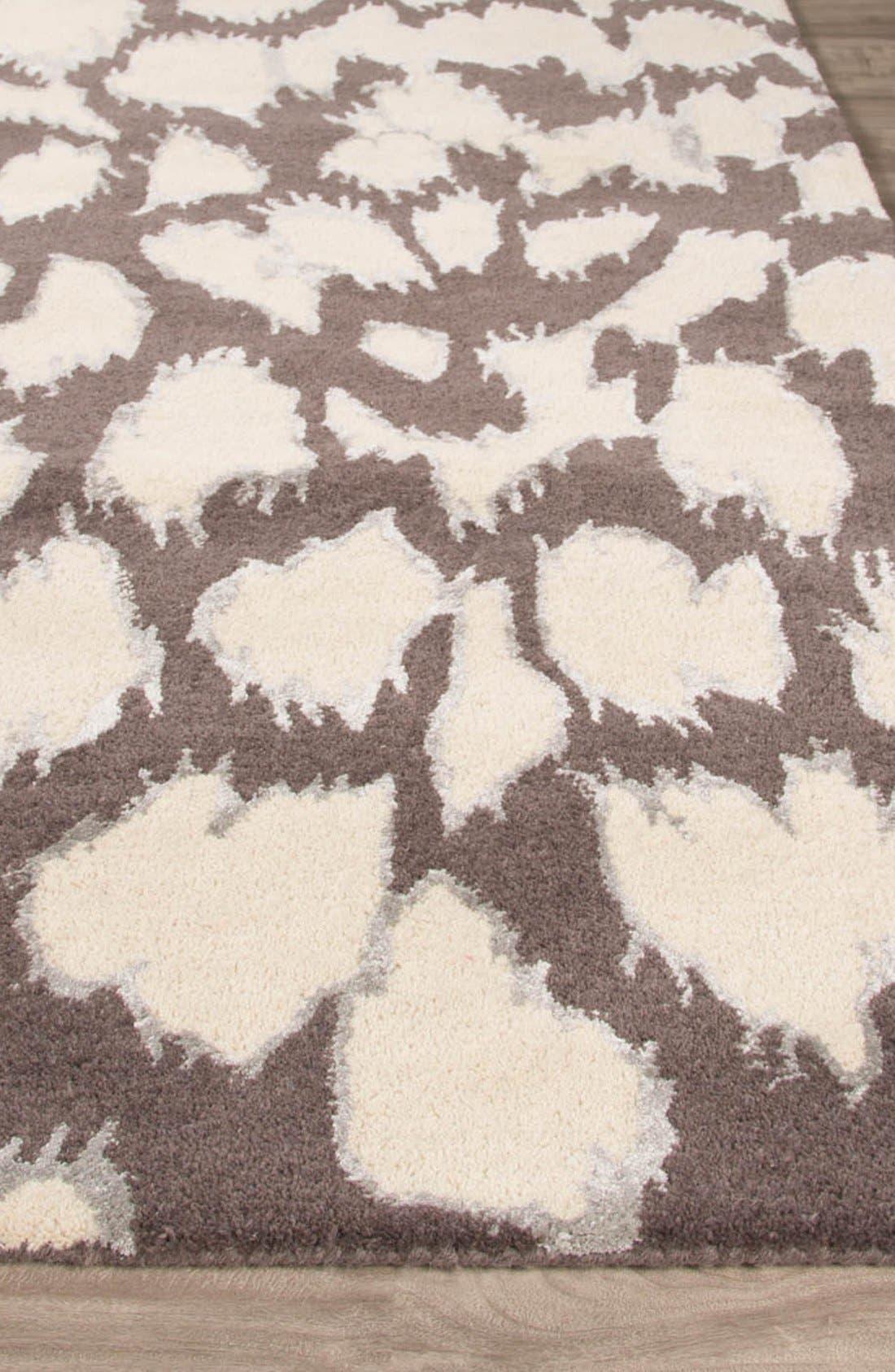 'gramercy - animal print' wool & silk rug,                             Alternate thumbnail 5, color,