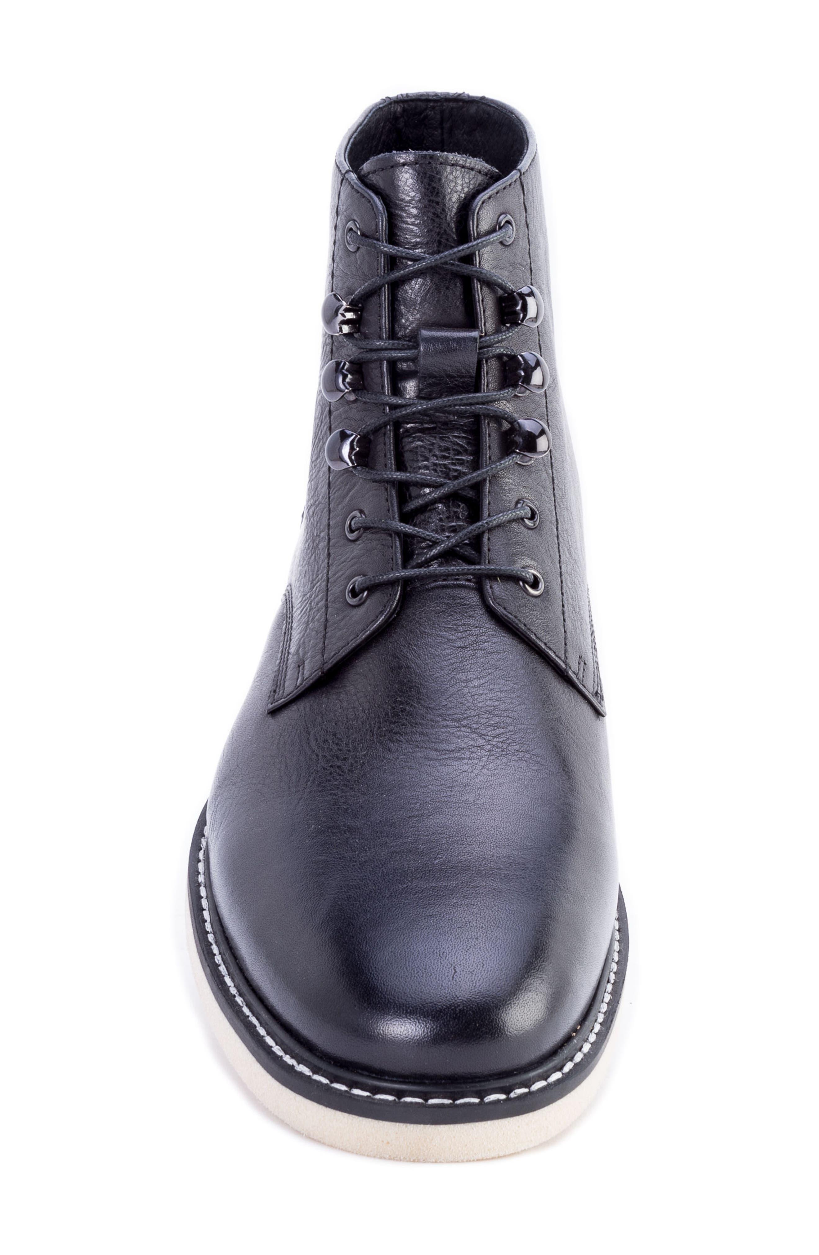 Finch Plain Toe Boot,                             Alternate thumbnail 5, color,                             BLACK LEATHER