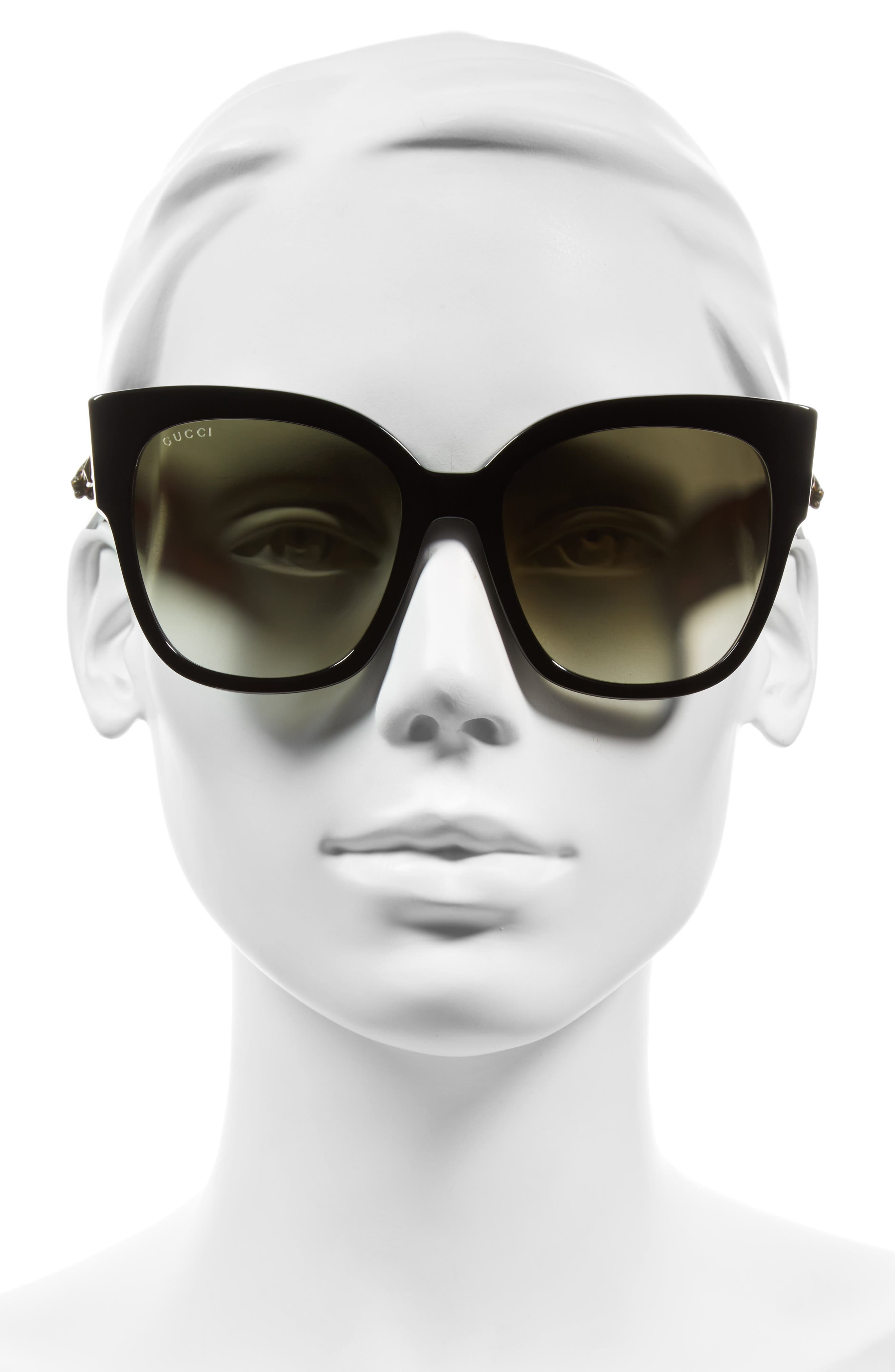 55mm Butterfly Sunglasses,                             Alternate thumbnail 3, color,                             001