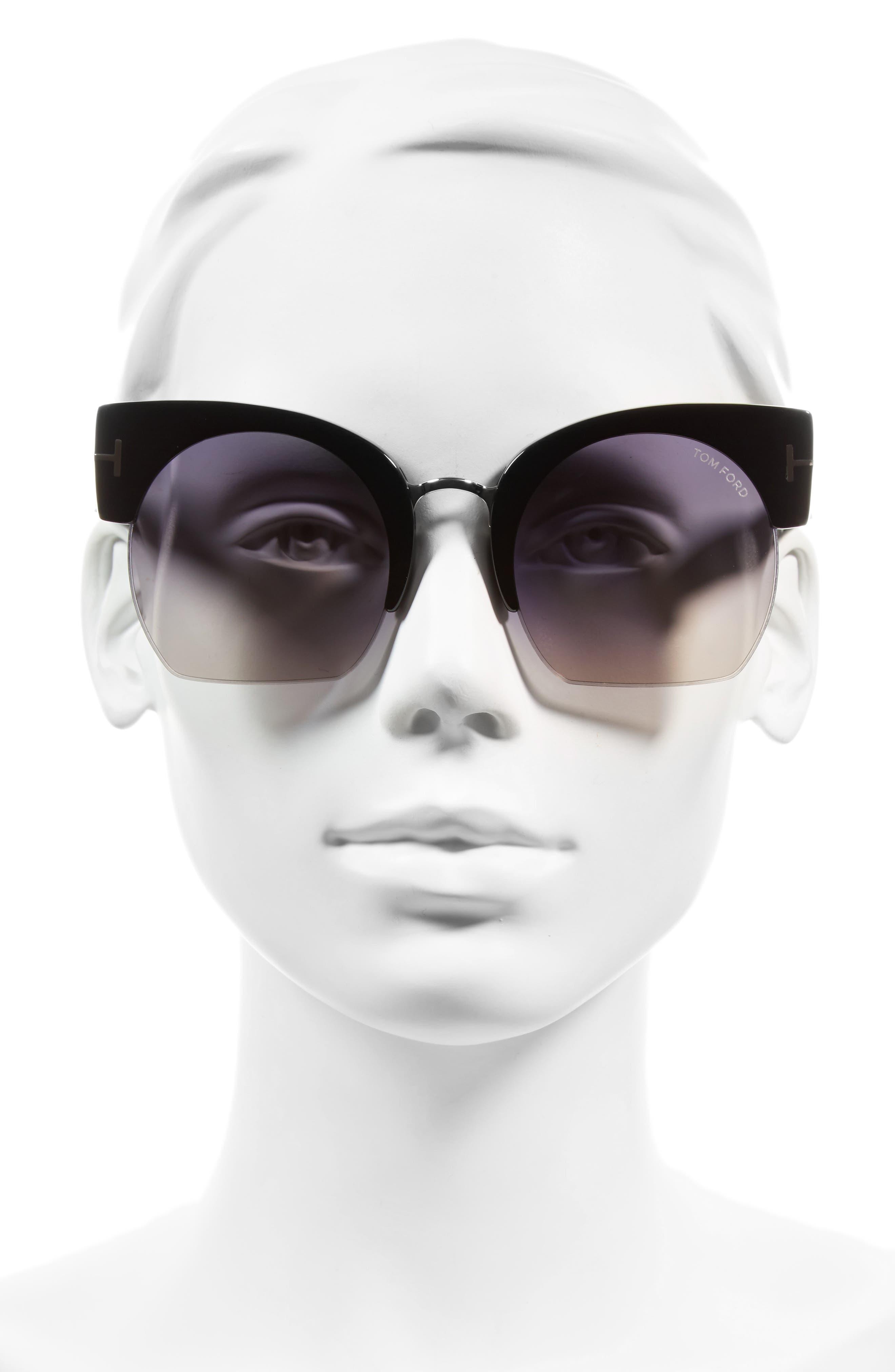 Savannah 55mm Cat Eye Sunglasses,                             Alternate thumbnail 2, color,                             001