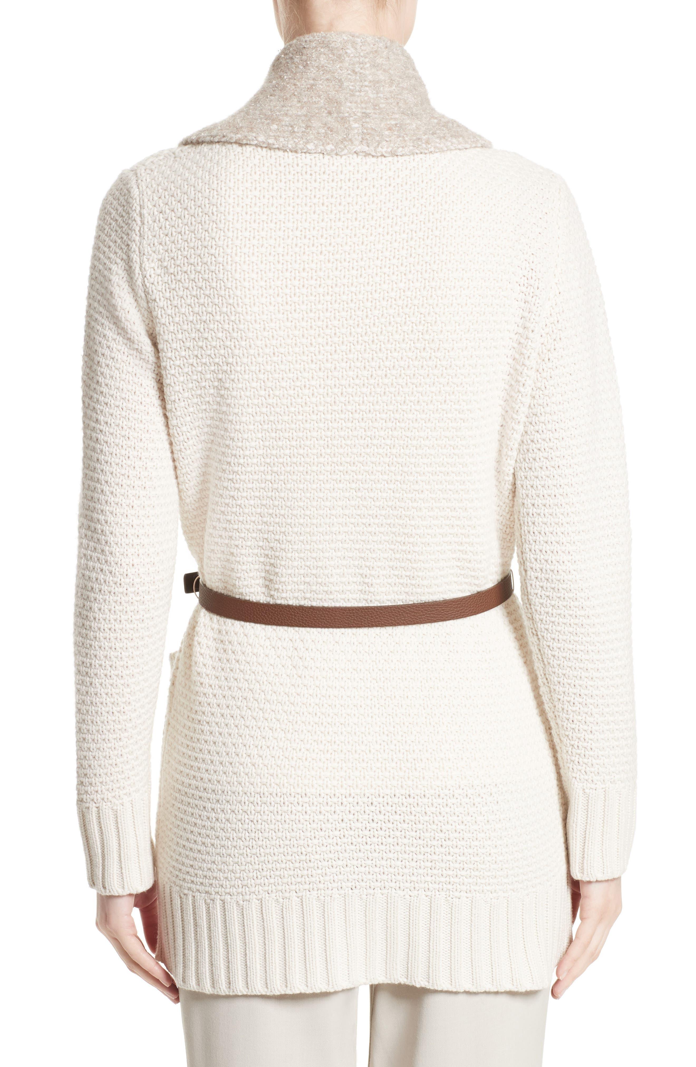 Wool, Silk & Cashmere Knit Cardigan,                             Alternate thumbnail 2, color,                             101